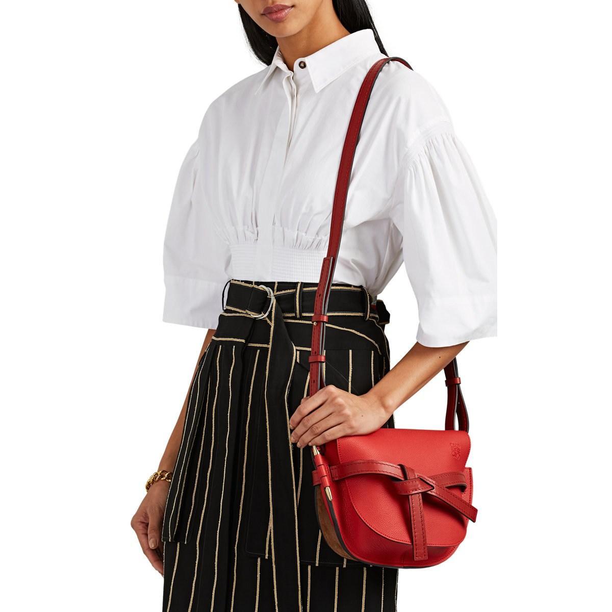 1d7851fa4e4a Loewe - Red Gate Small Leather Shoulder Bag - Lyst. View fullscreen