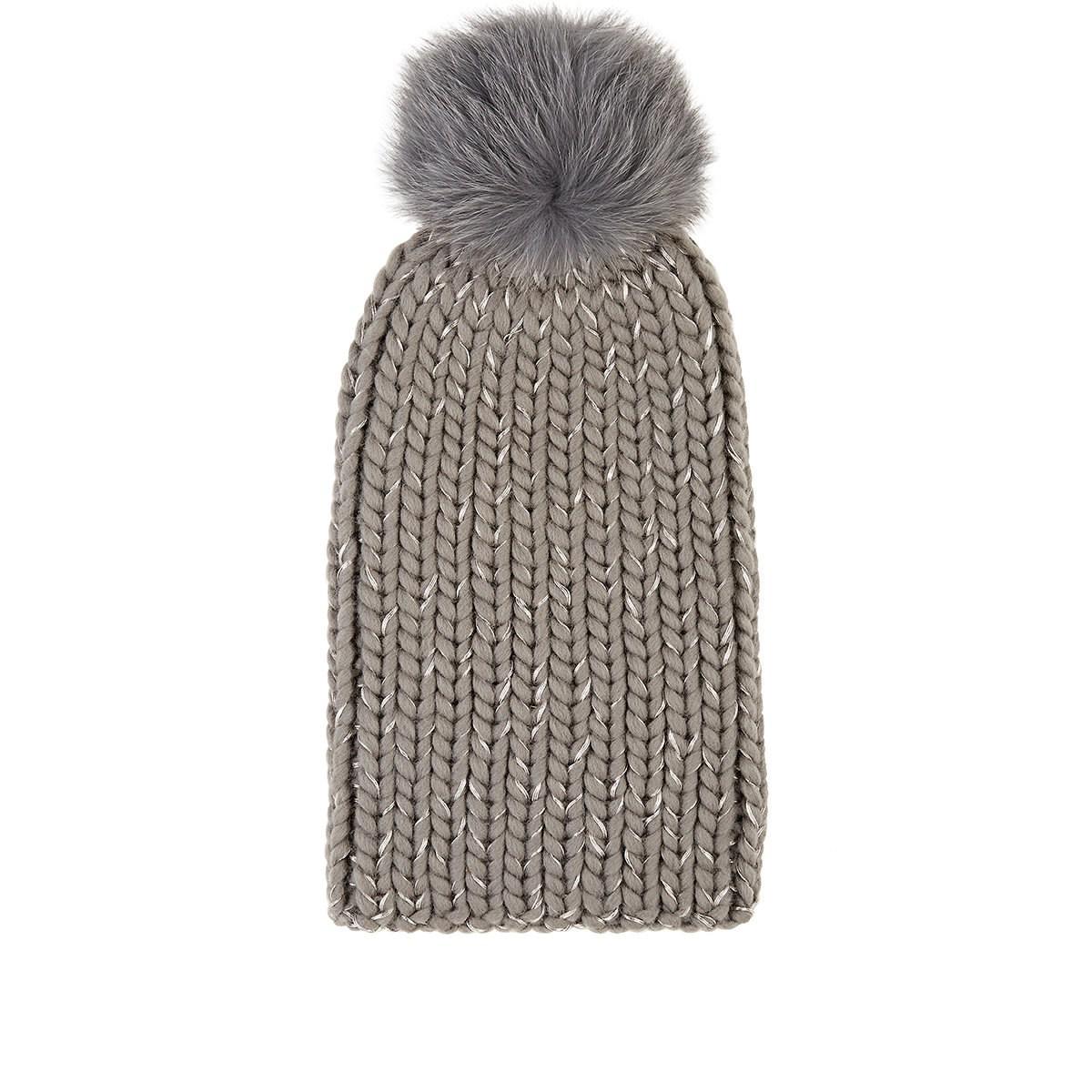 c2a291a09aa Lyst - Eugenia Kim Rain Chunky Rib-knit Wool-blend Beanie in Gray