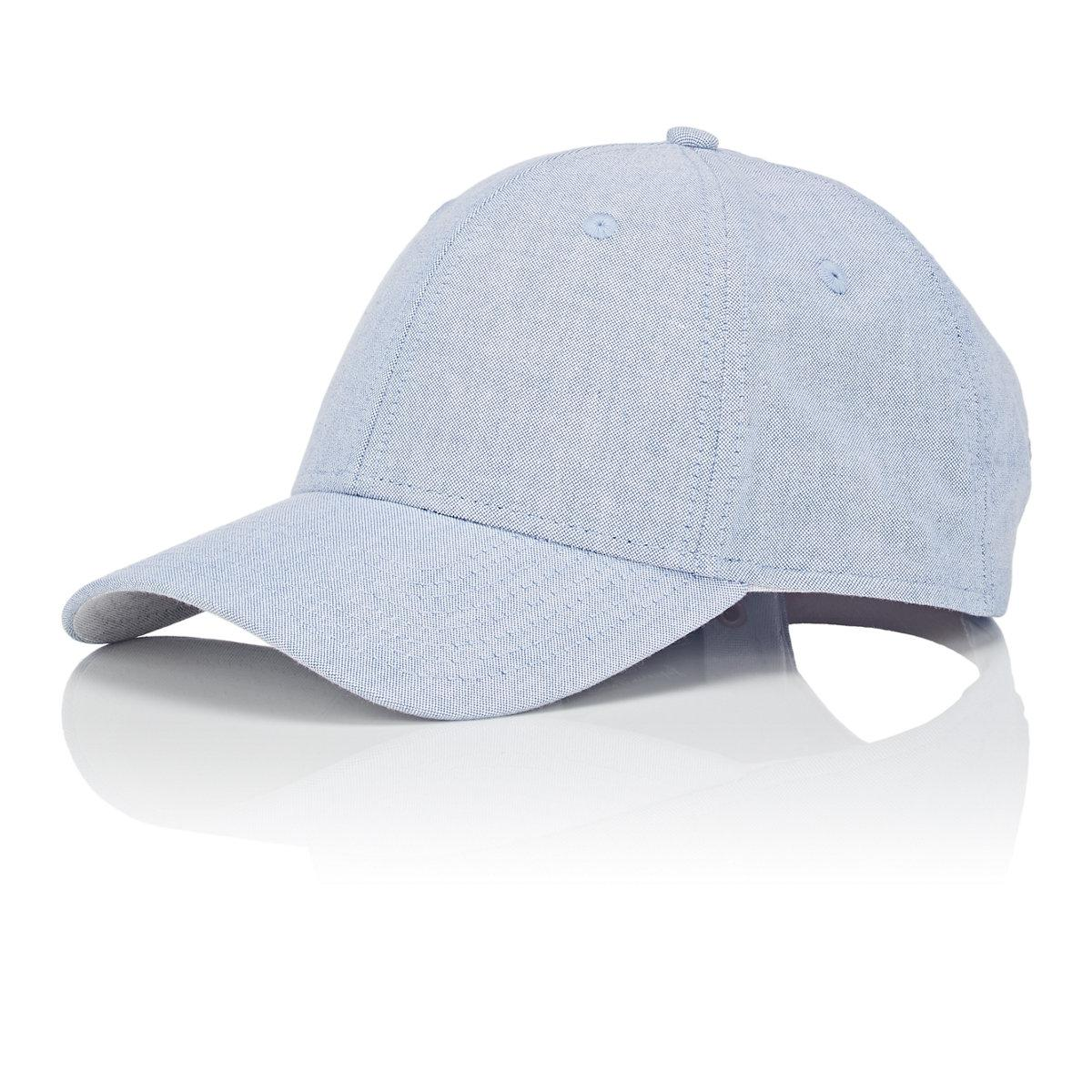 los angeles 98cfd 2a929 Barneys New York Cotton Oxford Cloth Baseball Cap in Blue for Men - Lyst