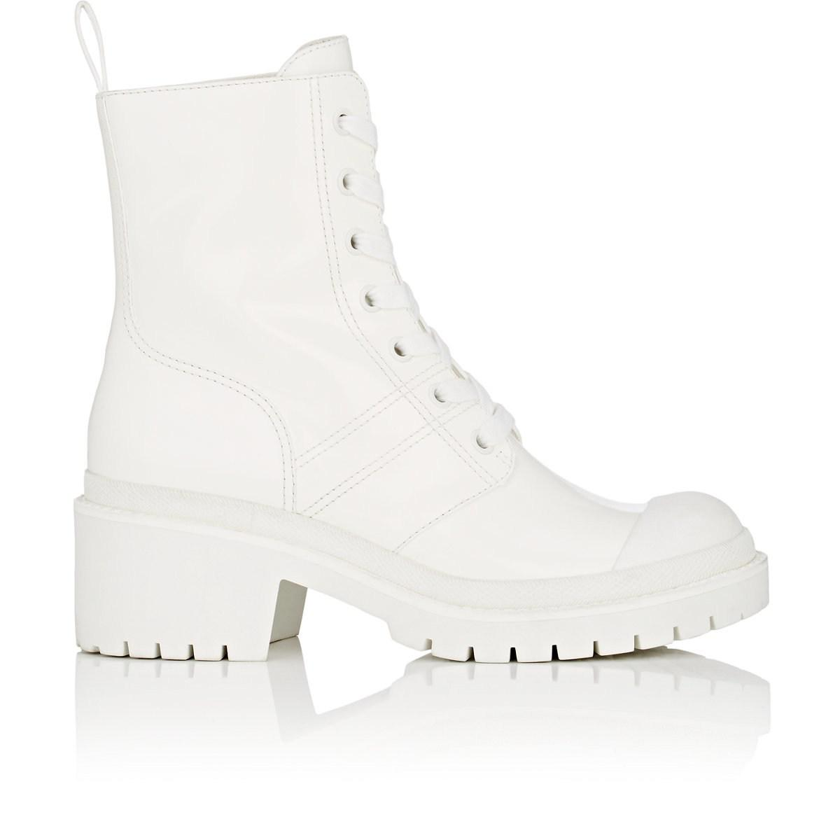 Bristol Glossed-leather Ankle Boots - White Marc Jacobs SqiNniU