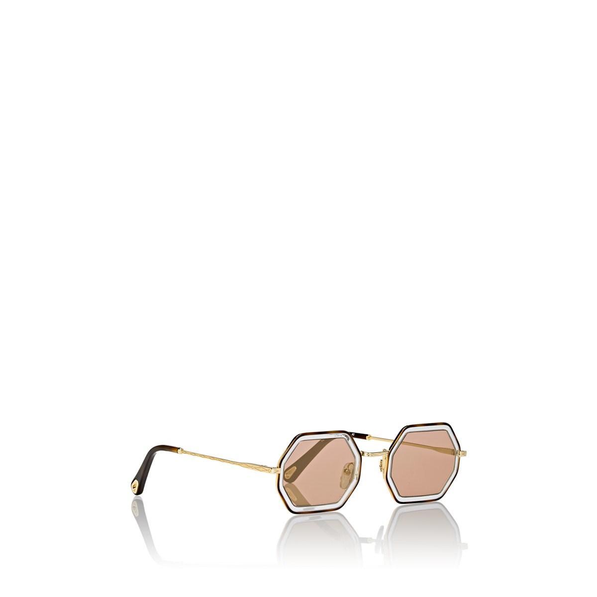 fb12fccf98d Chloé - Multicolor Tally Small Sunglasses - 253 - Lyst. View fullscreen