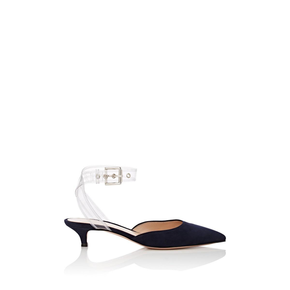 eb901419f Lyst - Gianvito Rossi Pvc-ankle-wrap Suede Pumps in Blue