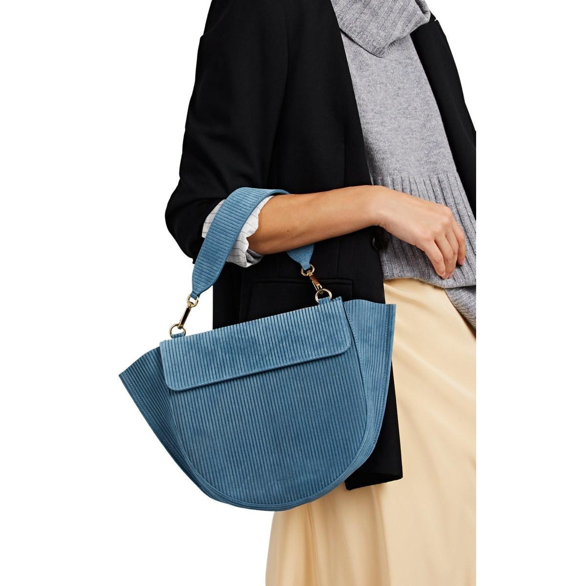 f4b053984c Wandler - Blue Hortensia Medium Suede Shoulder Bag - Lyst. View fullscreen