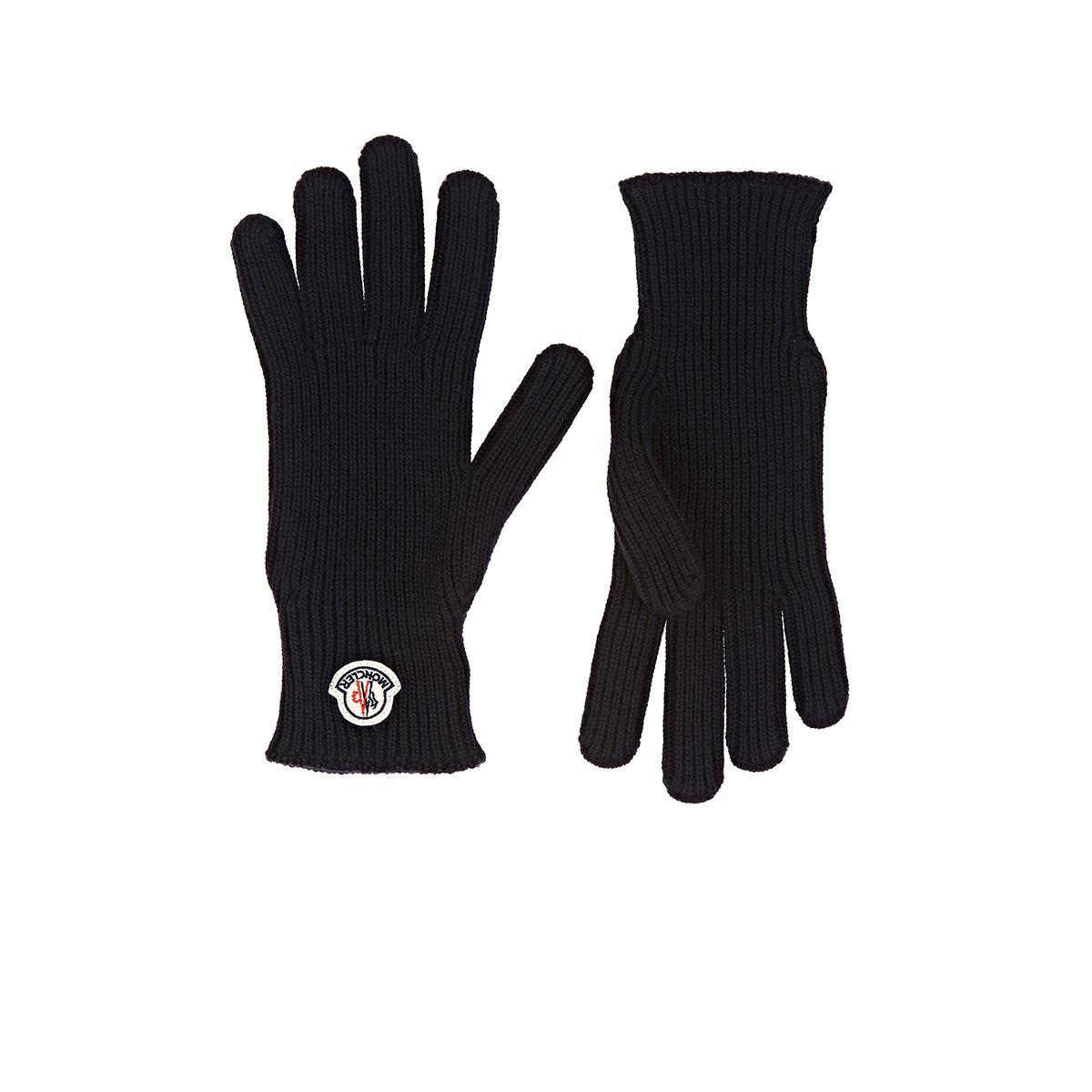 e2a340c19 Lyst - Moncler Guanti Virgin Wool Gloves in Blue