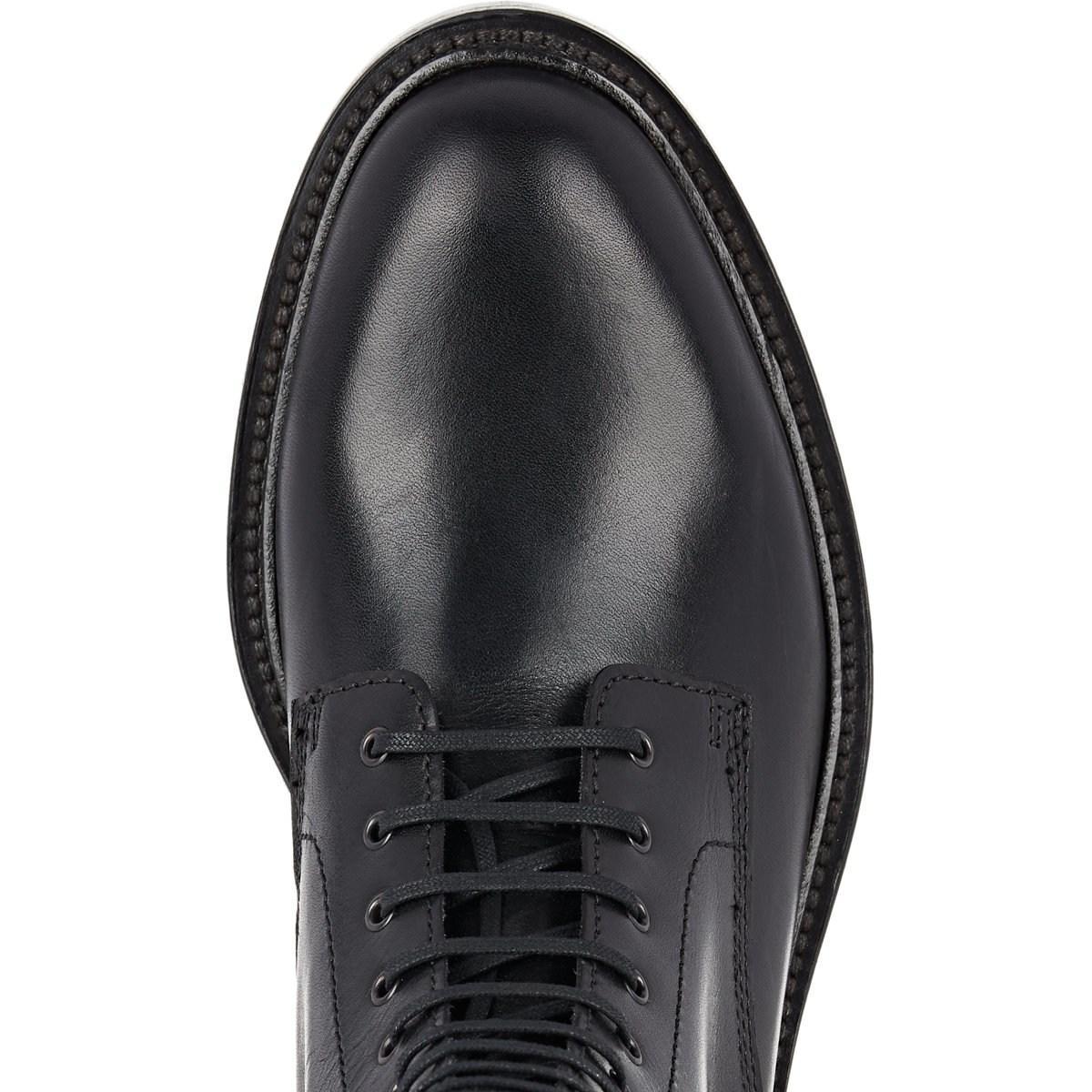 e9b9665f366 Saint Laurent Timothy Leather Combat Boots in Black for Men - Lyst