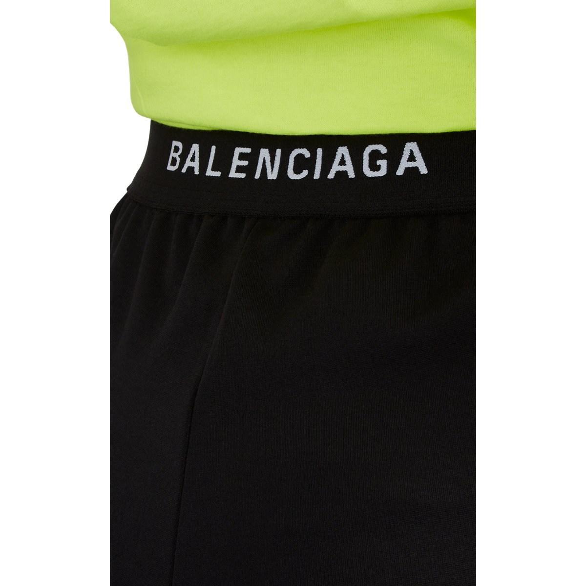 7afd9f231feaf Balenciaga - Black Logo-waist Crepe-jersey Leggings - Lyst. View fullscreen