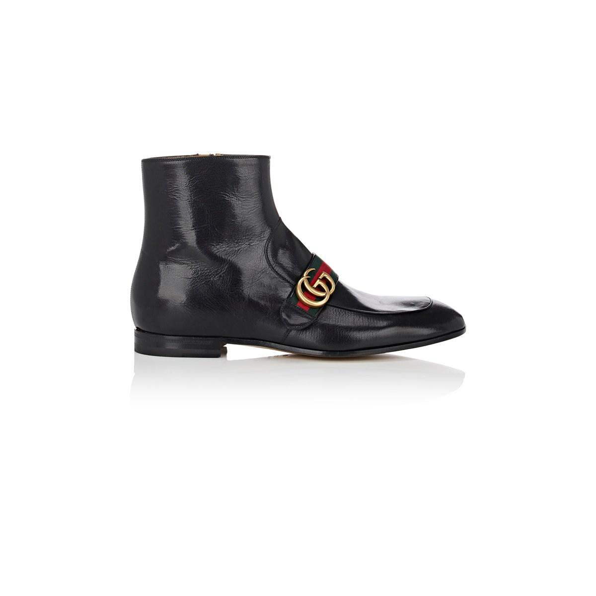 43c0ecfda56 Lyst - Gucci Donnie Leather Boots in Black for Men