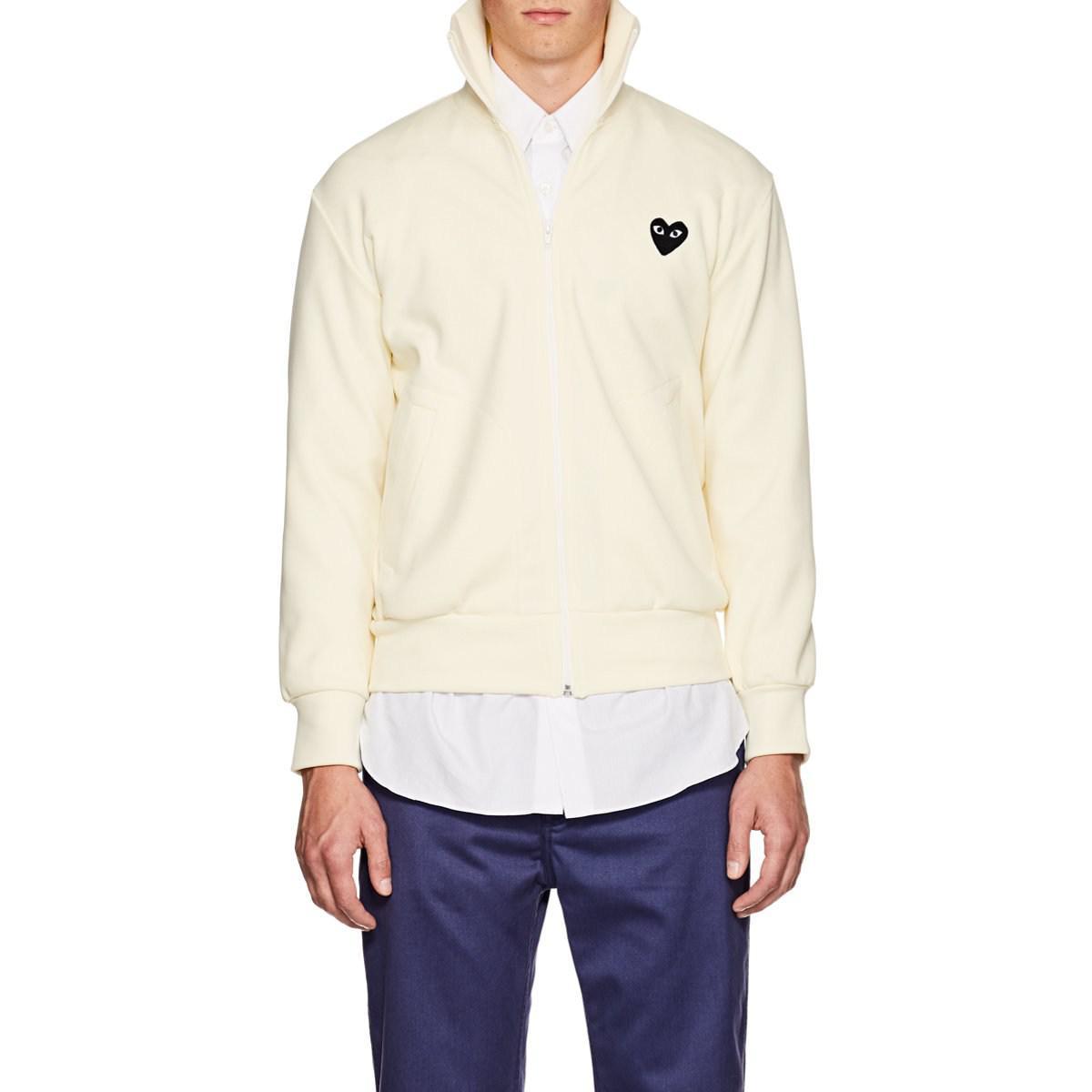 73fe17335 COMME DES GARÇONS PLAY Heart Track Jacket in White for Men - Lyst