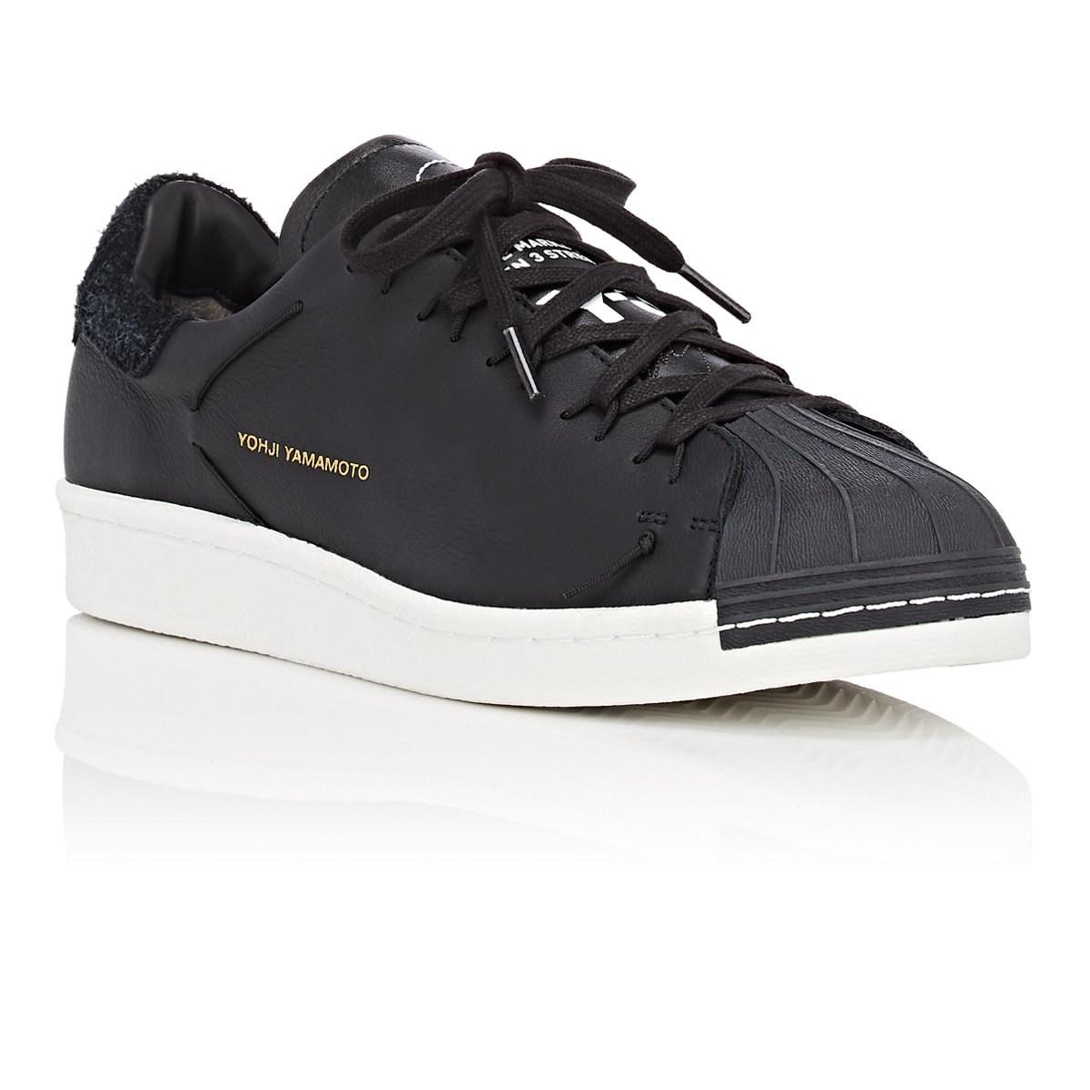 bfb7ff42f Y-3 - Black Super Knot Leather Sneakers for Men - Lyst. View fullscreen