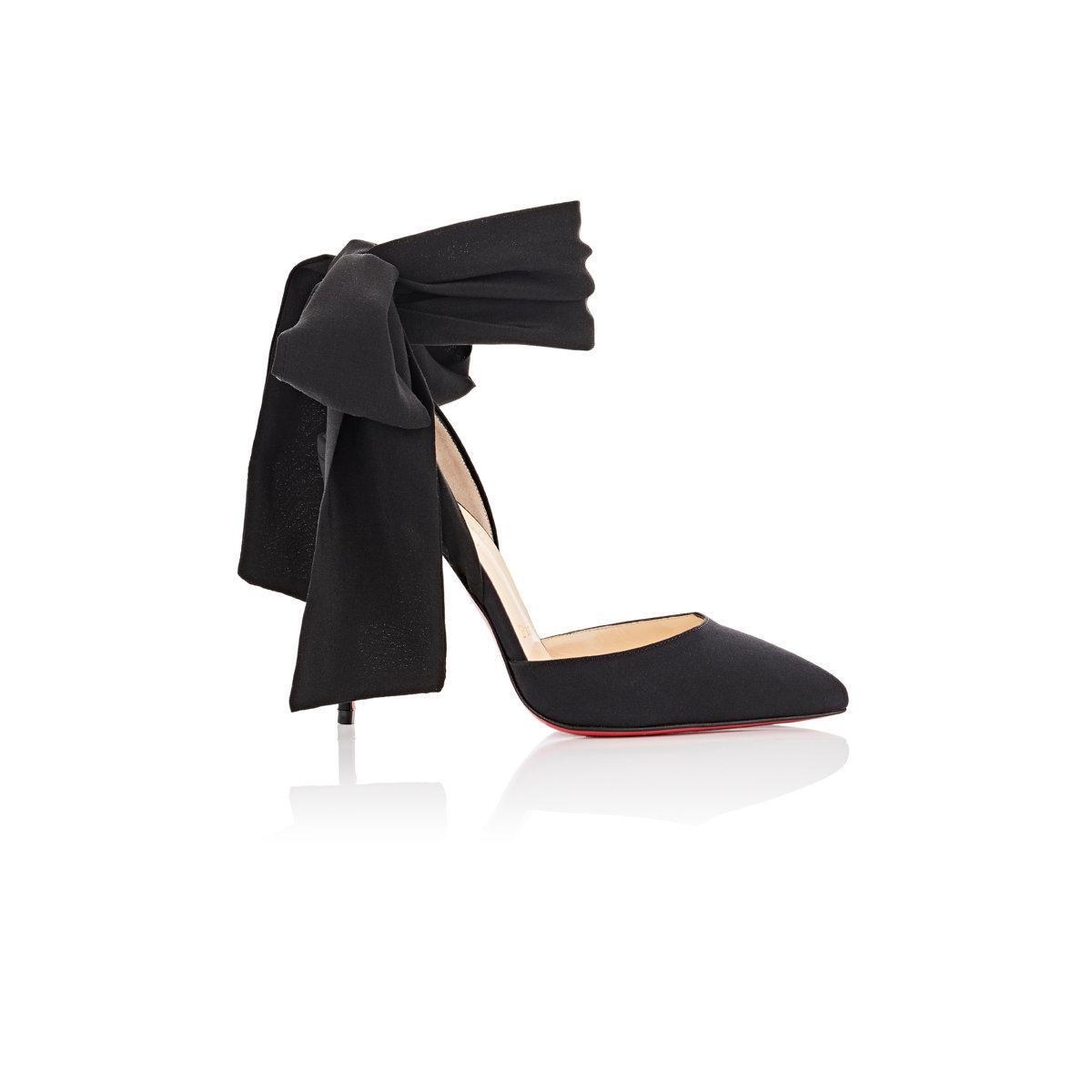 a79301bf5e1 ... code for lyst christian louboutin douce du desert crepe de chine pumps  in black 60548 official store christian louboutin dovi dova knit red sole  booties ...