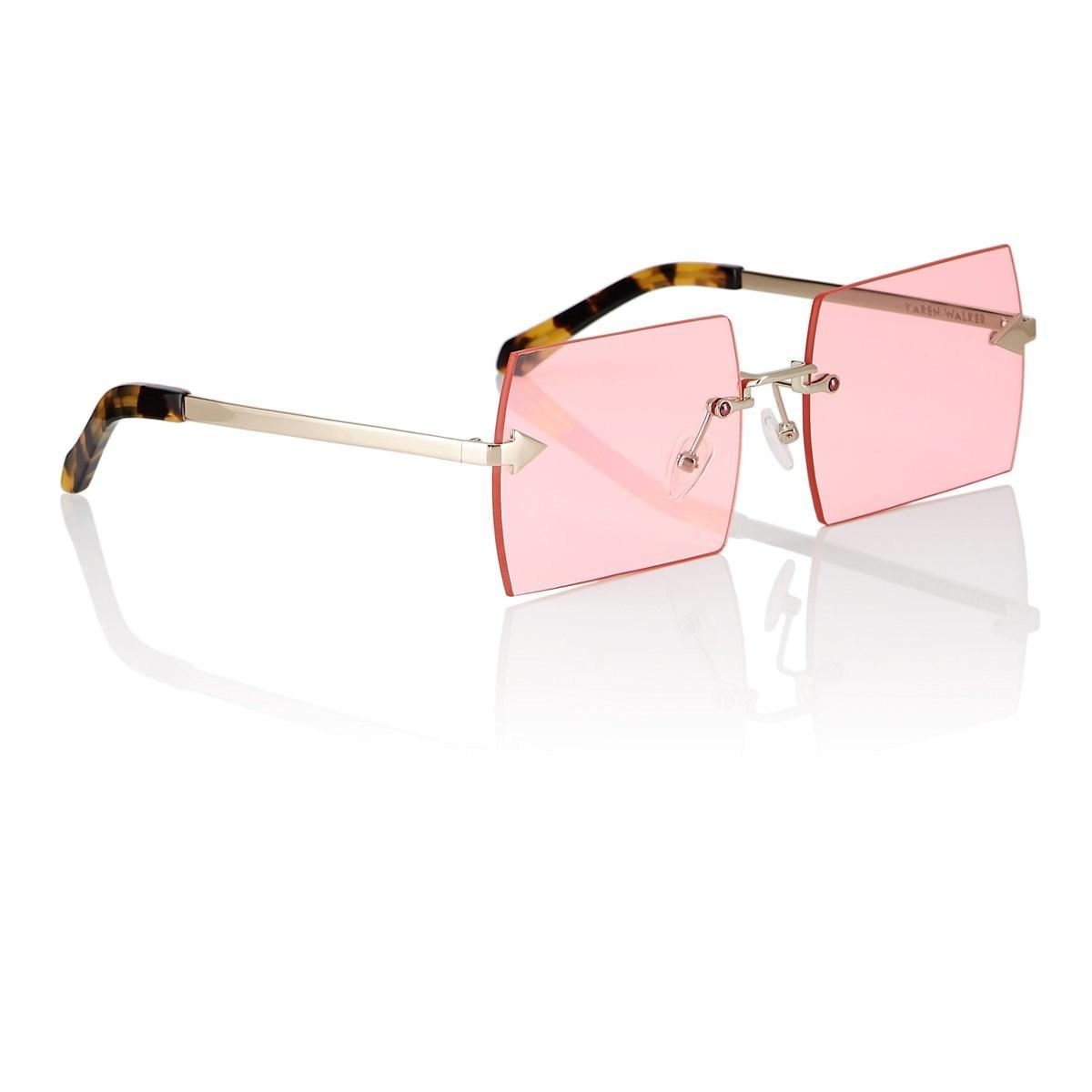 06b6bd0215f Karen Walker - Metallic The Bird Sunglasses - Lyst. View fullscreen