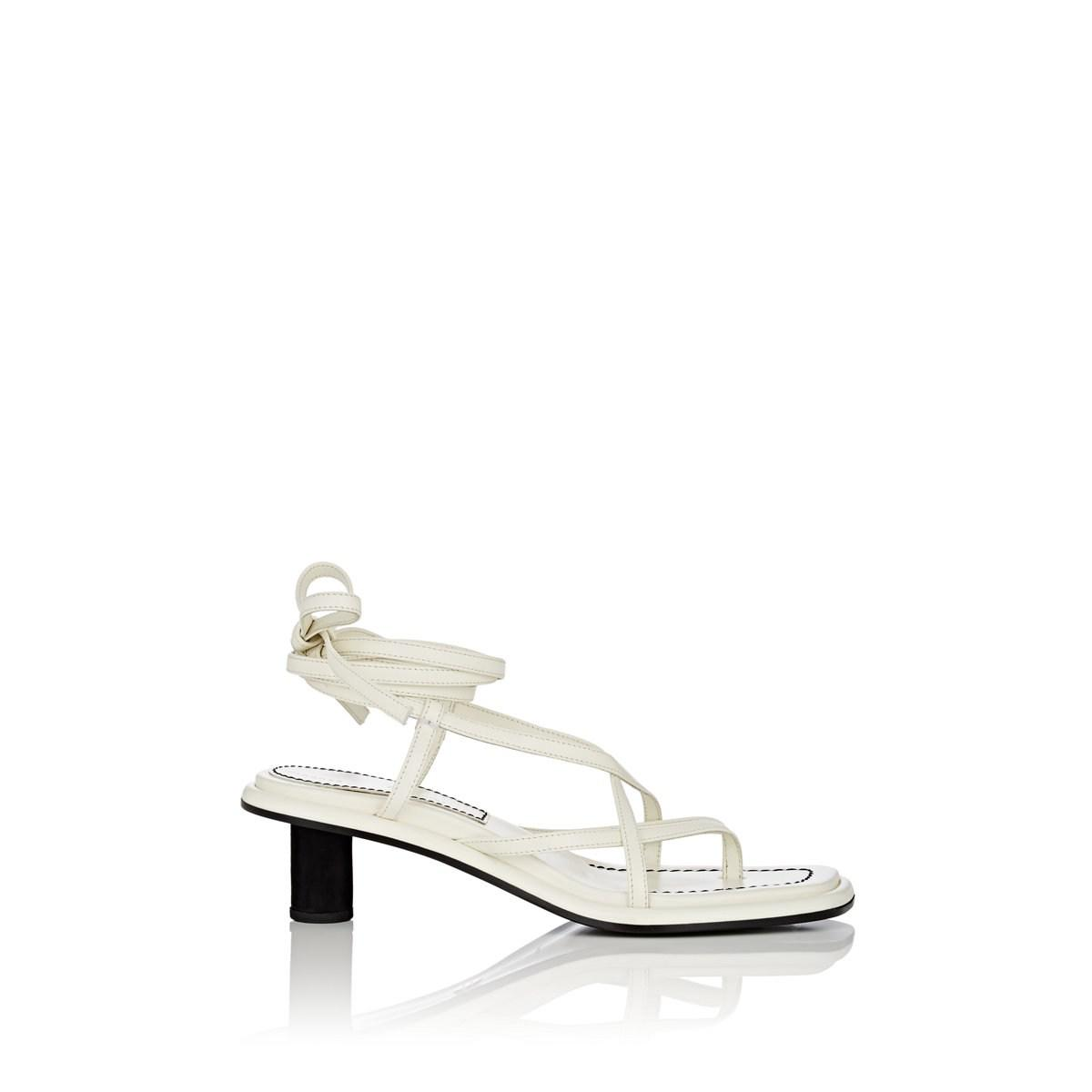 a330186c6d3 Proenza Schouler - White Leather Ankle-tie Sandals - Lyst. View fullscreen