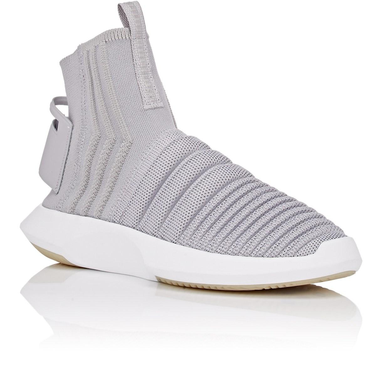 on sale 4a2a6 556a9 Adidas - Gray Crazy 1 Adv Sock Primeknit Sneakers for Men - Lyst. View  fullscreen