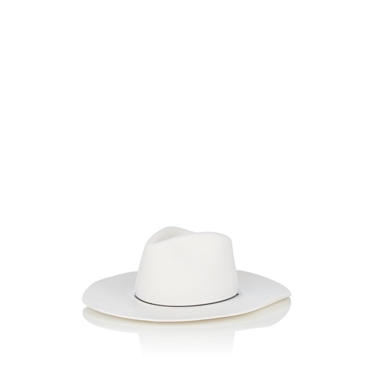 Janessa Leone Neil Wool Felt Fedora in White - Save 10% - Lyst 24478e959bf
