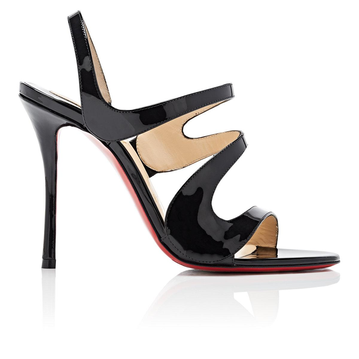 Outlet Best Store To Get Cheap Shopping Online Womens Vavazou Patent Leather Sandals Christian Louboutin Natural And Freely Cheap Sale Big Sale Cheap Sale Browse qRVFFKNjdW