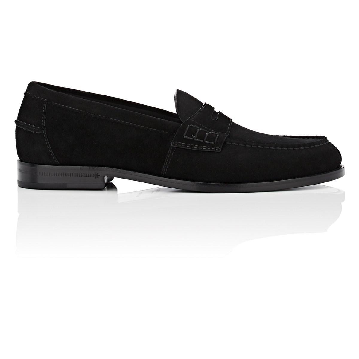 8de578ab357 Lyst - Saint Laurent Universite Suede Penny Loafers in Black for Men