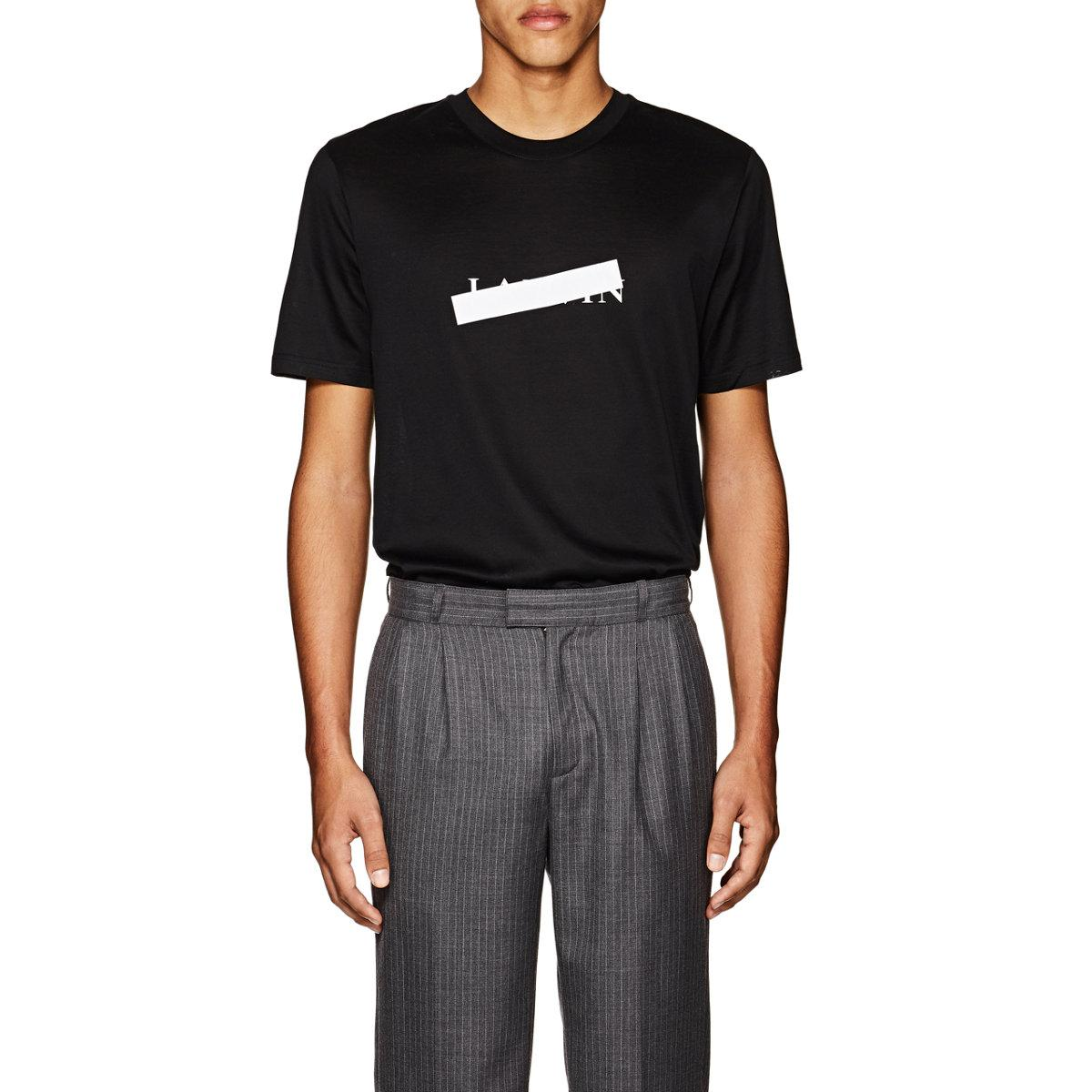 Really Mens Crossed-Out-Logo Cotton T-Shirt Lanvin Free Shipping Visit New Outlet High Quality Many Kinds Of CvXBAV