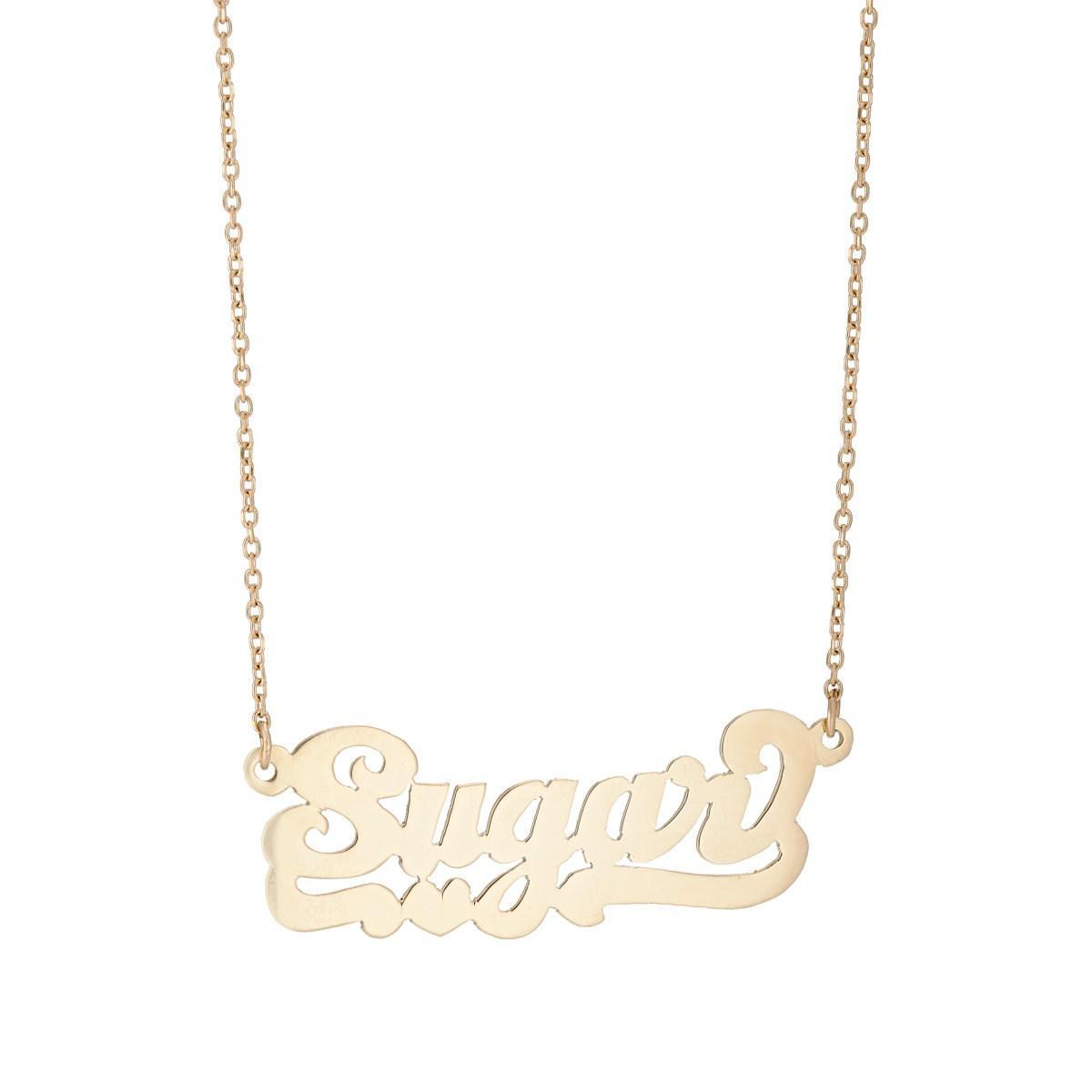 Womens Sugar Nameplate Necklace Bianca Pratt BbFpubwlI