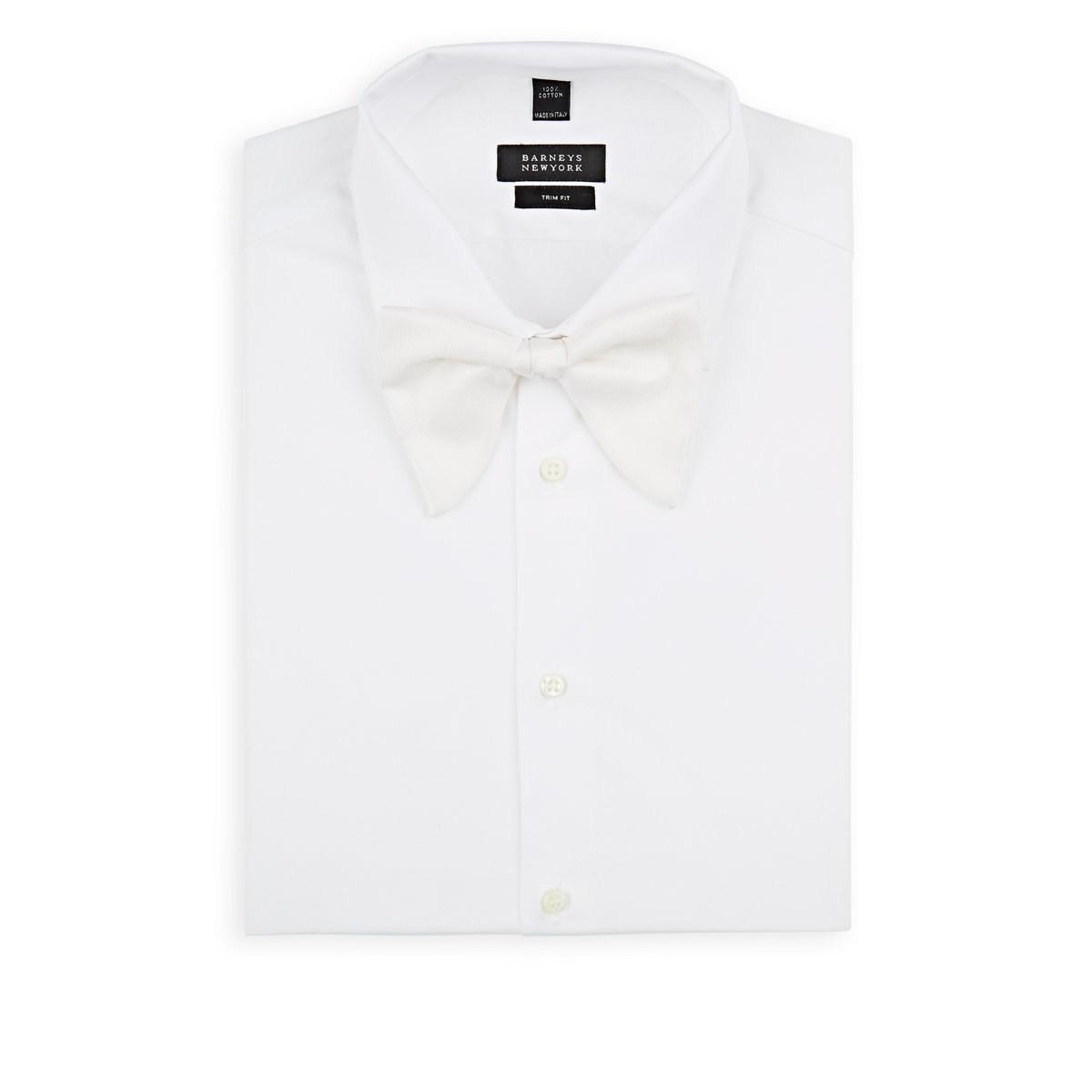 1e44ee0d Gucci Solid Silk Faille Bow Tie in White for Men - Lyst
