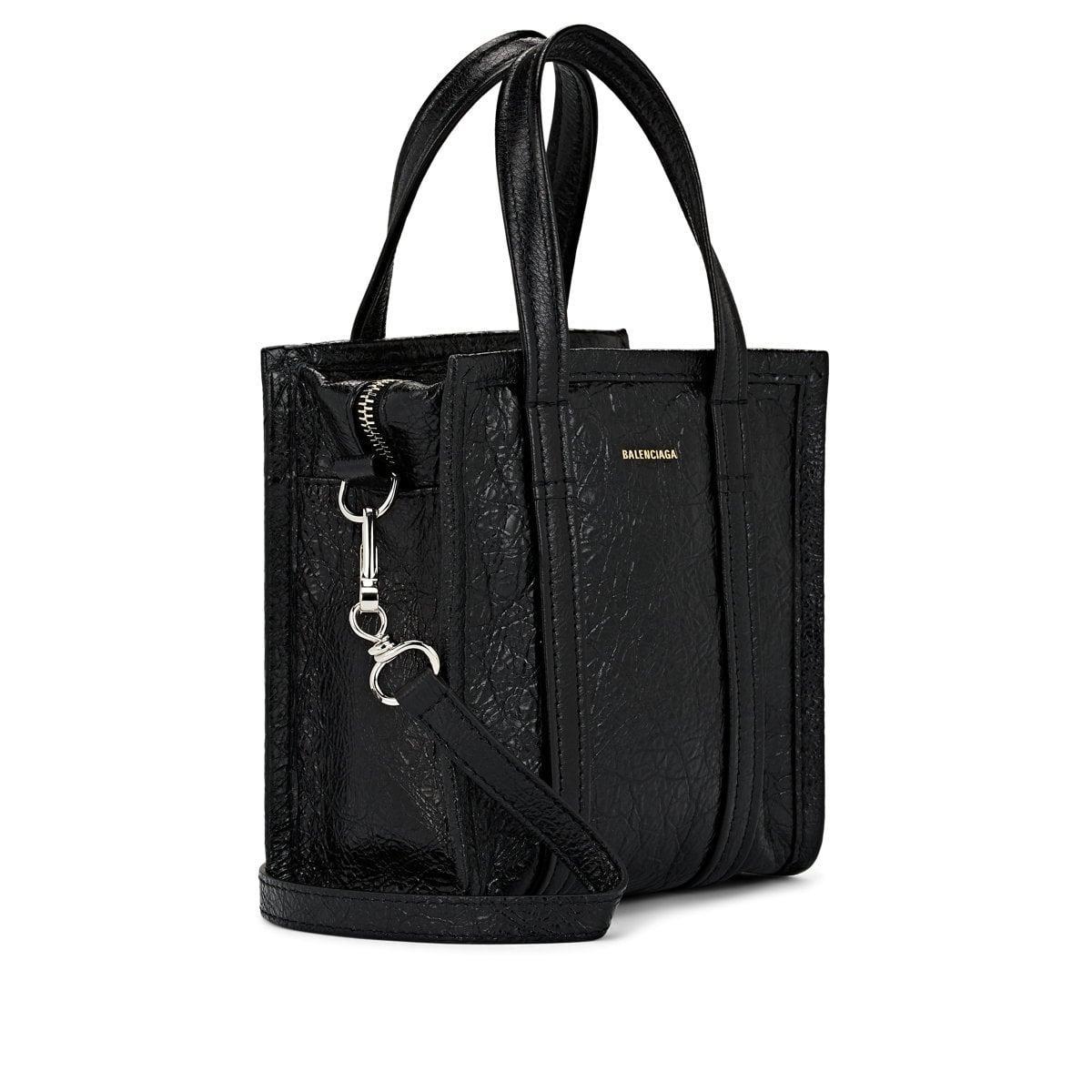 ac0f99f854 Balenciaga - Black Arena Leather Bazar Extra-extra-small Shopper Tote -  Lyst. View fullscreen