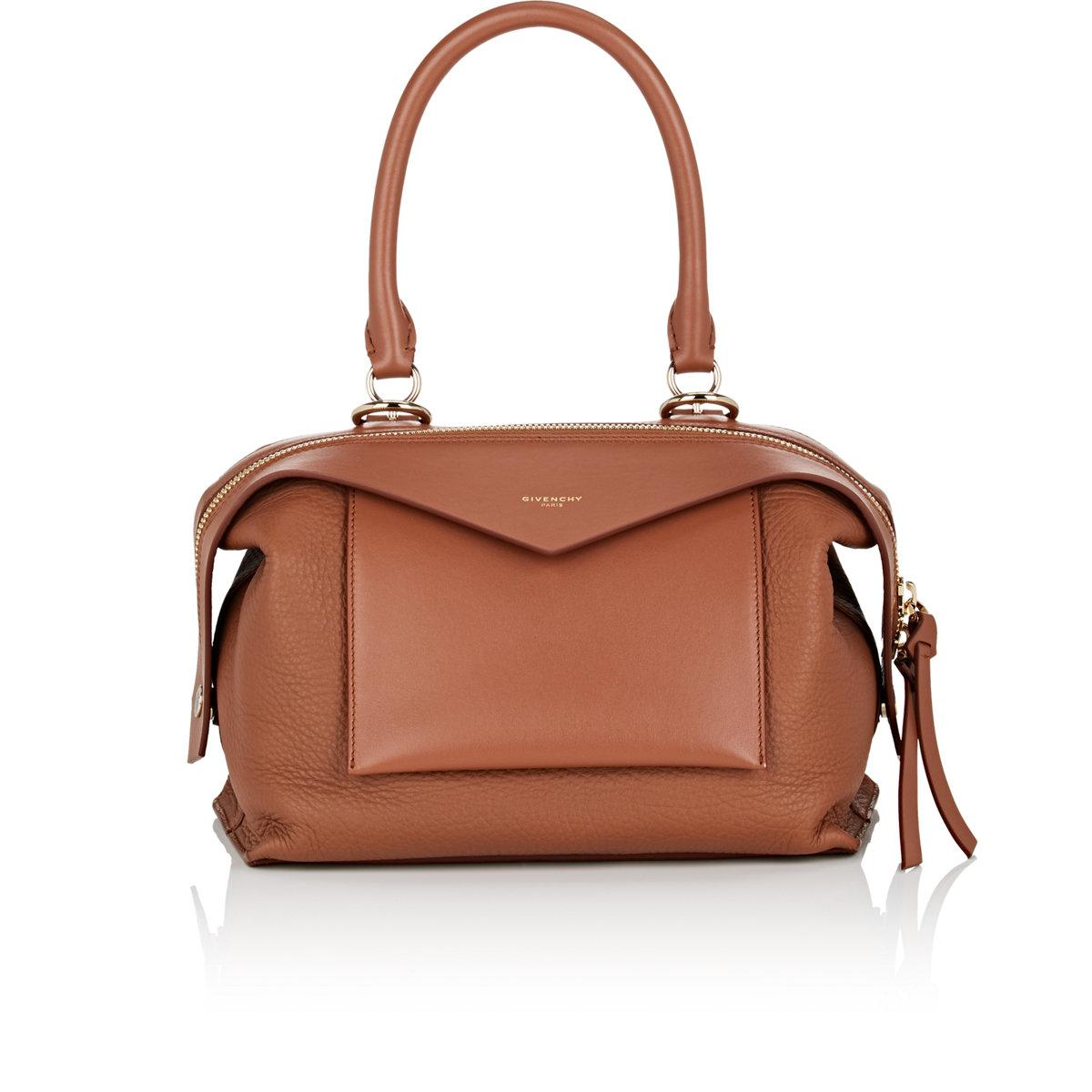 74e10ac989965 Lyst Givenchy Sway Small Leather Bag In Brown
