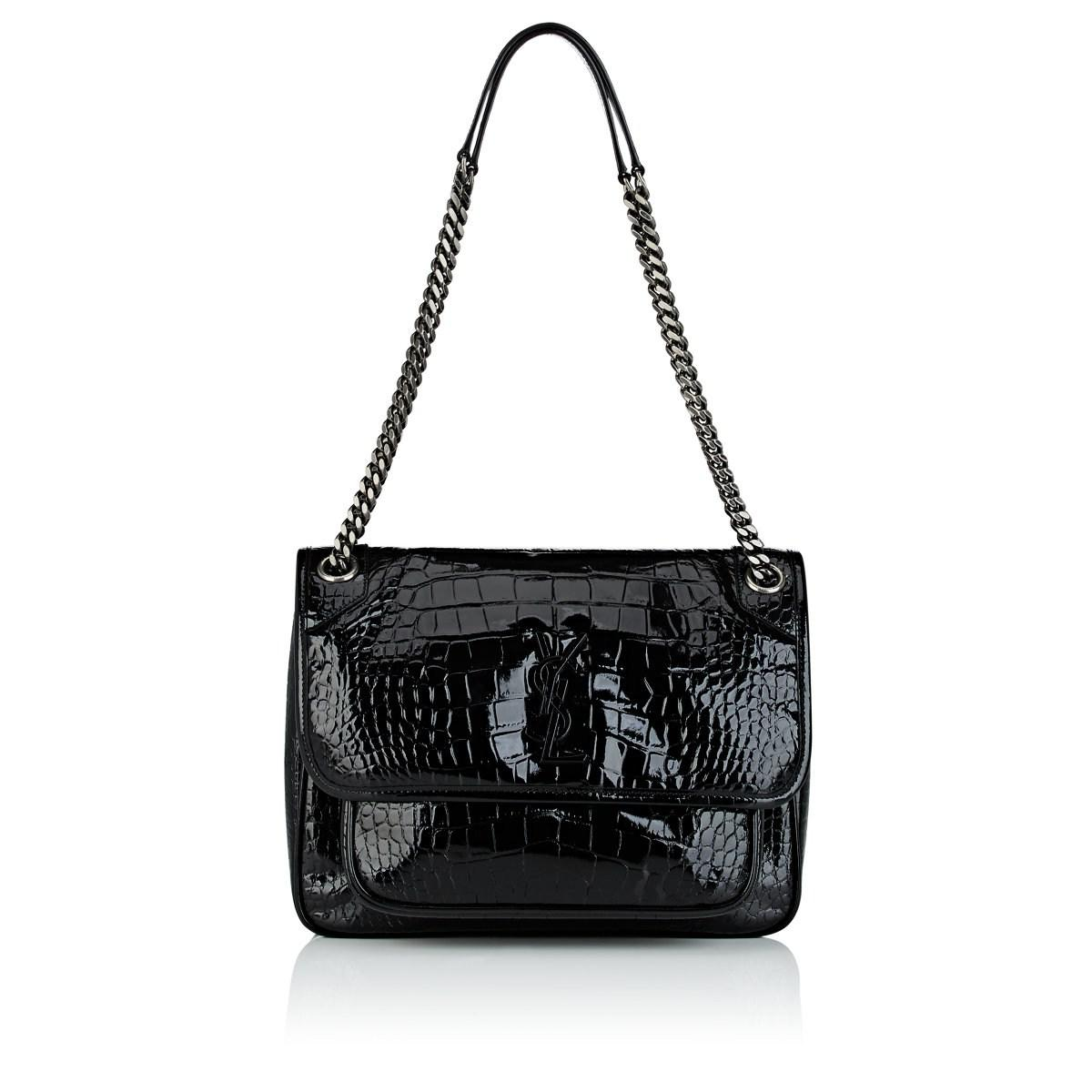 Saint Laurent Monogram Niki Medium Leather Shoulder Bag in Black - Lyst 7823636c70ded