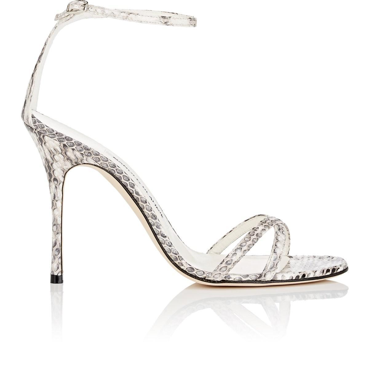 Womens Paloma Snakeskin Sandals Manolo Blahnik lW3xUyi
