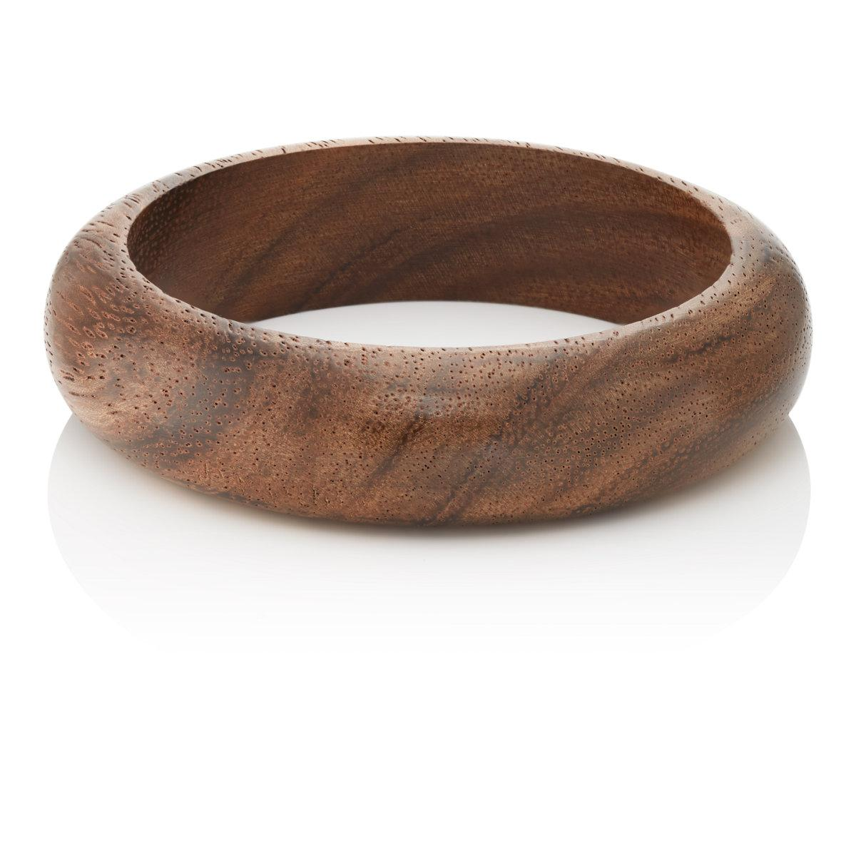 Kenneth Jay Lane Womens Wooden Domed Bangle XCQ3kbY