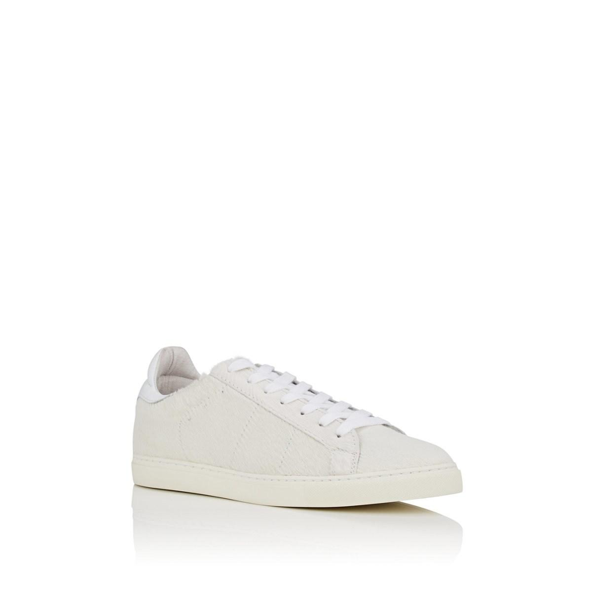 3afef813e7c767 Lyst - IRO Calf Hair   Leather Sneakers in White