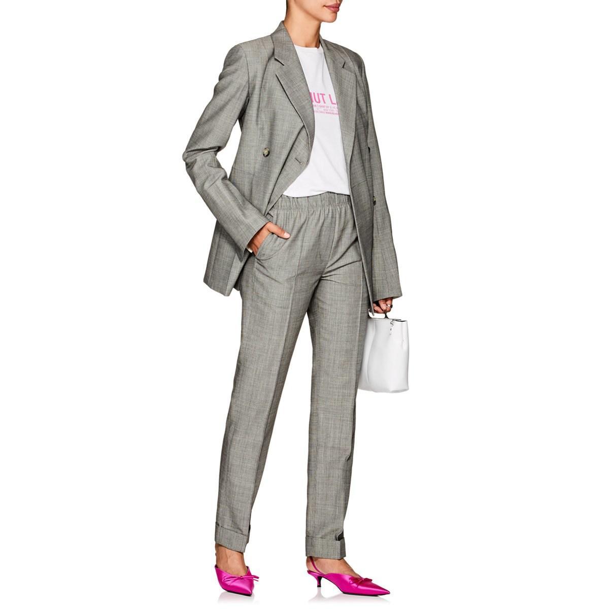 1c6589b65e22a Helmut Lang - Gray Virgin Wool-mohair High-rise Suit Pants - Lyst. View  fullscreen