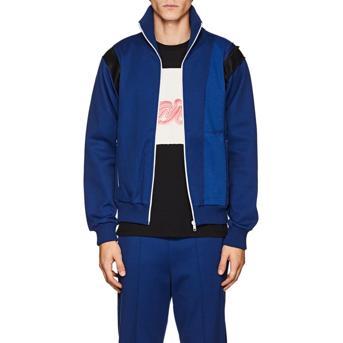 8d55c89d3cc8 Maison Margiela Satin-trimmed Piqué Track Jacket in Blue for Men - Lyst