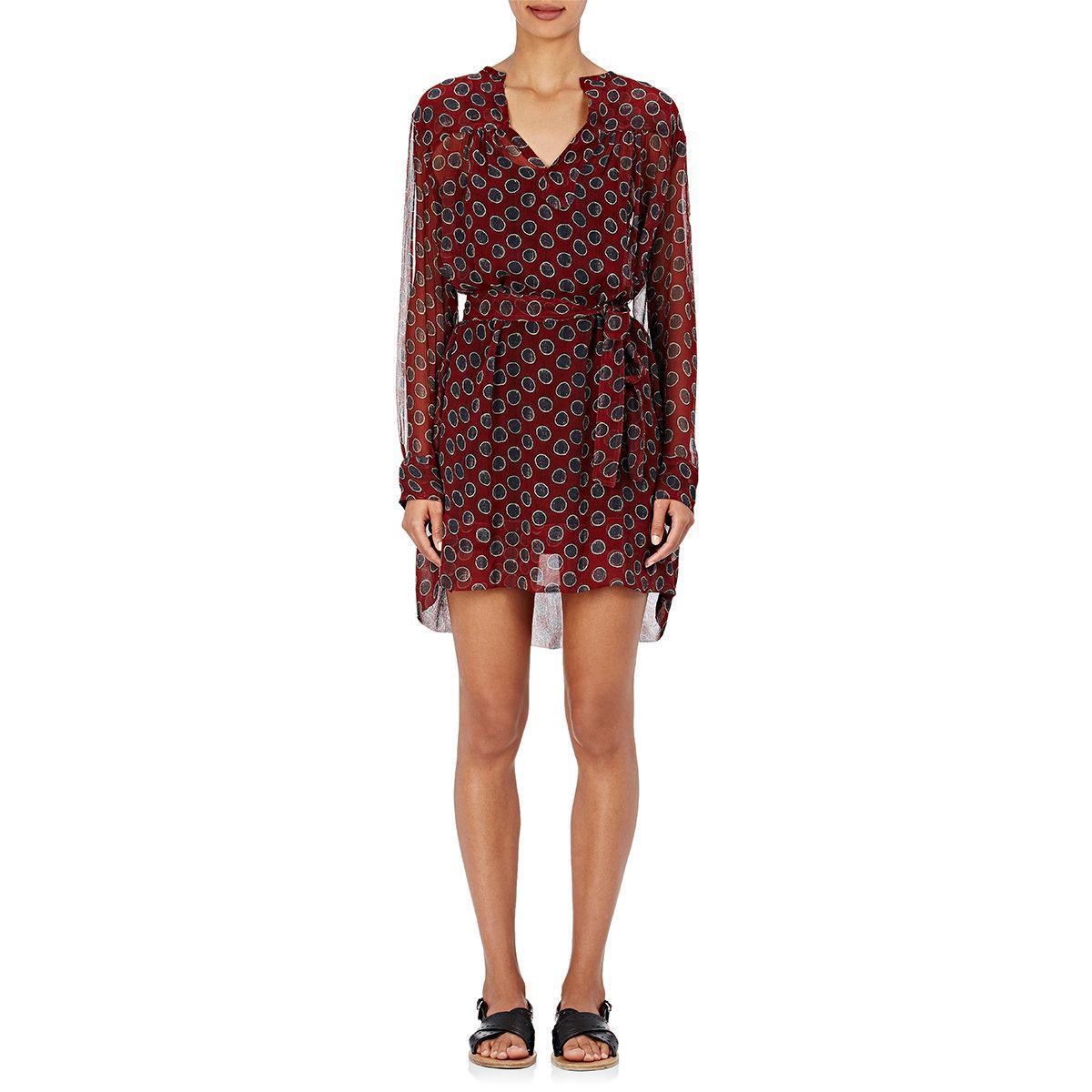 Toile isabel marant 39 bertha 39 shirt dress in red lyst for Isabel marant shirt dress