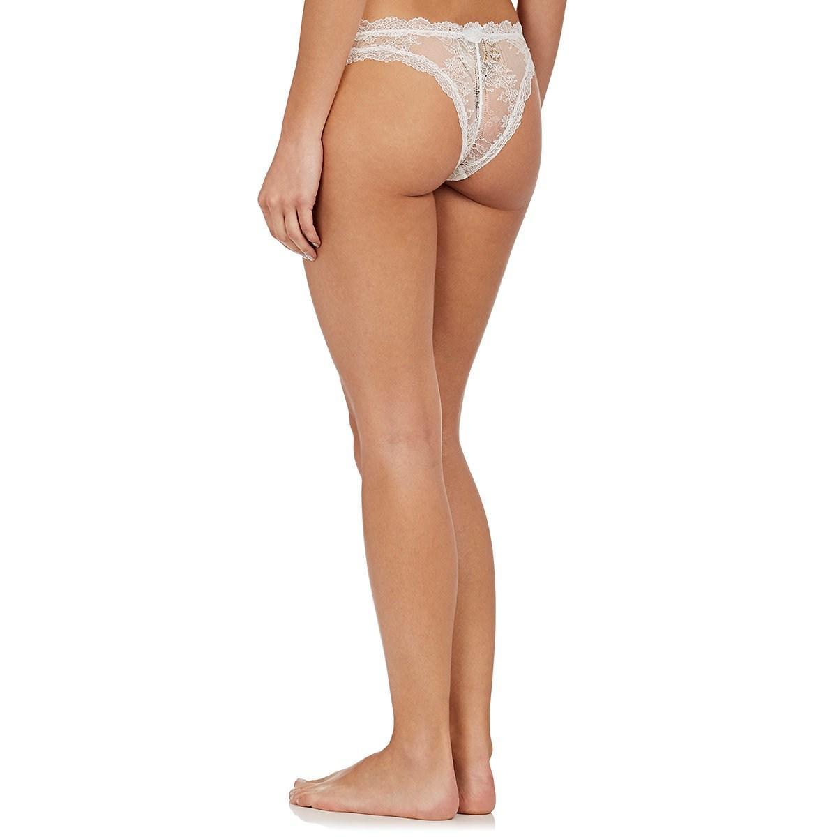 a49c82943152bb La Perla - White Lace Frills Brazilian Bikini Briefs - Lyst. View fullscreen