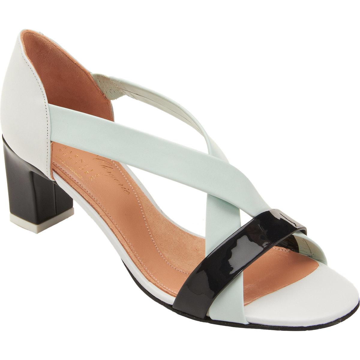 e0527ca9b41 Lyst - Robert Clergerie Criss Cross Strap Sandals in White