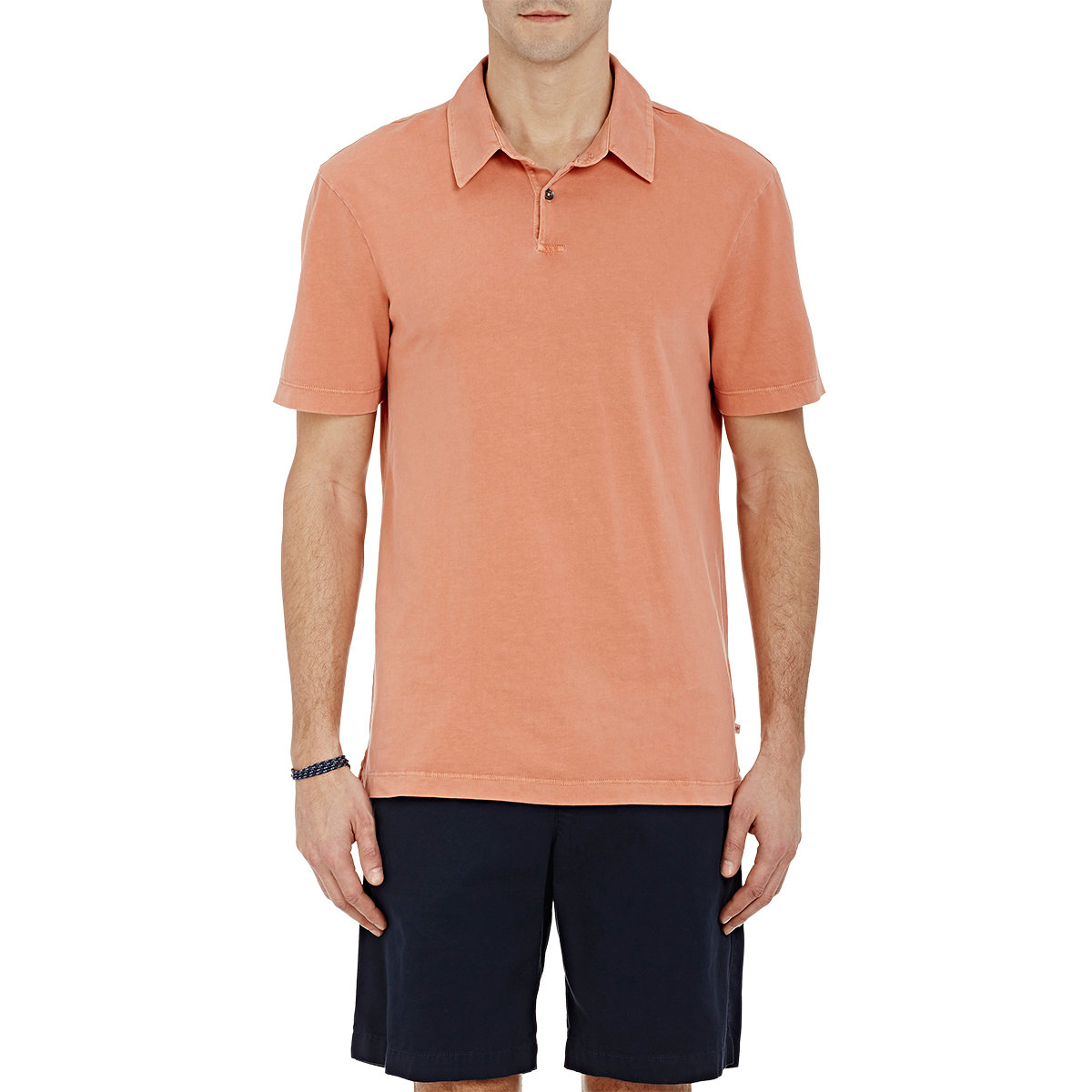 Lyst james perse jersey polo shirt in orange for men for Mens orange polo shirt