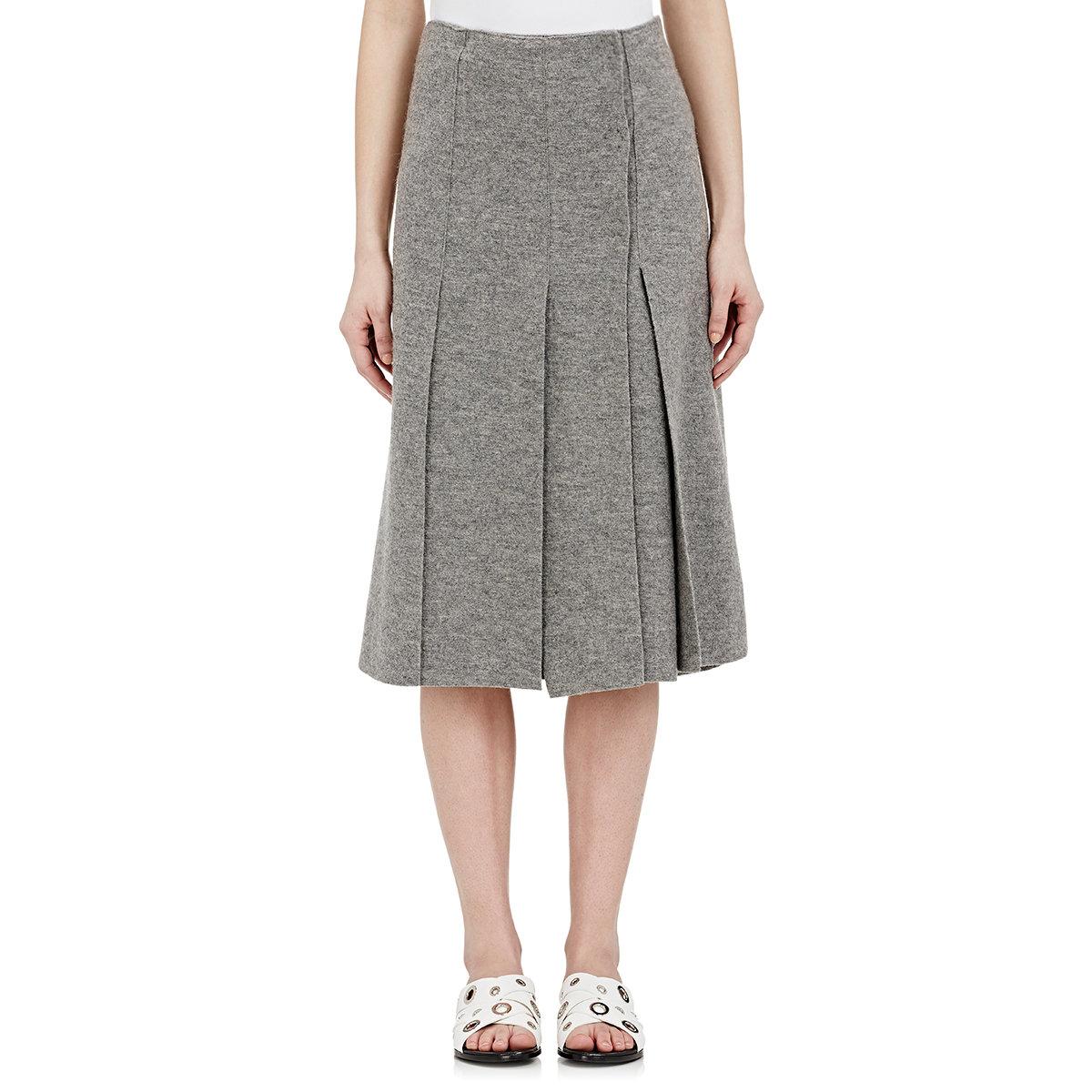 proenza schouler s wrap front midi skirt in gray