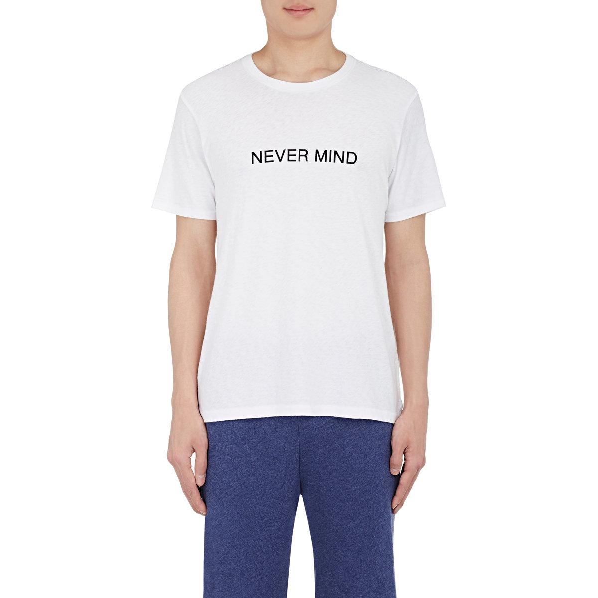 Rag bone men 39 s nevermind t shirt in white for men lyst for Rag and bone t shirts