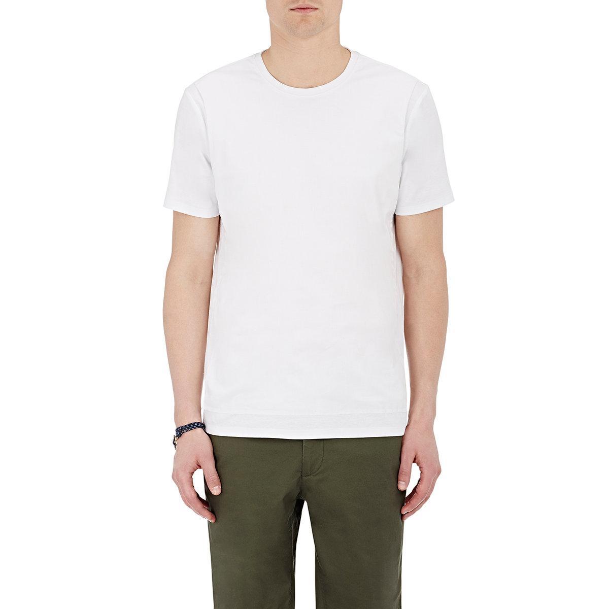 Atm gauze front t in white for men lyst for Atm t shirt sale