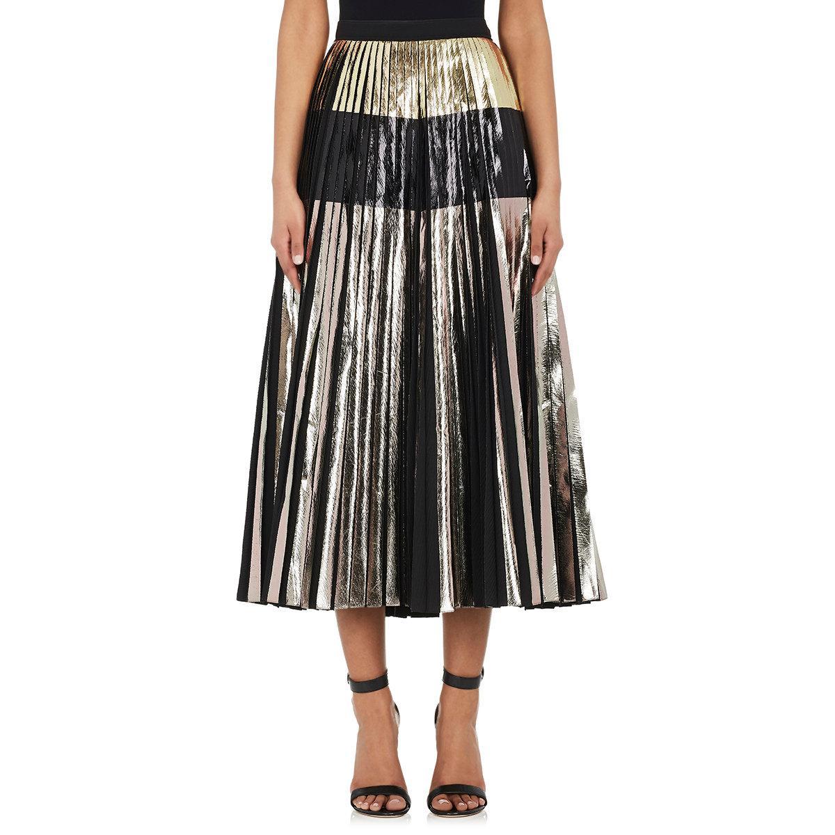 proenza schouler pleated cloqu 233 skirt in black lyst
