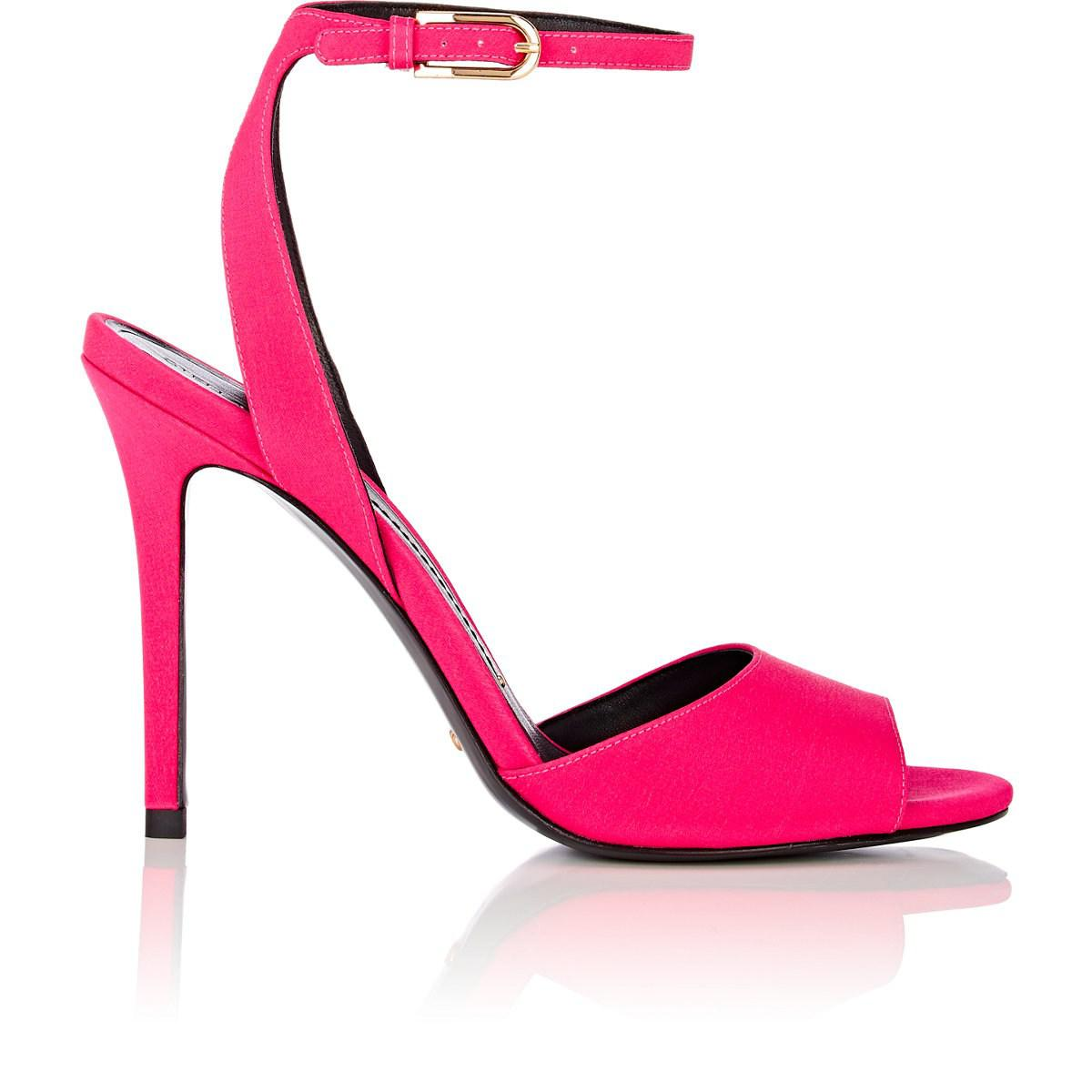 5c2eccb9db1a Lyst - Stella Luna Tech-satin Ankle-strap Sandals in Pink