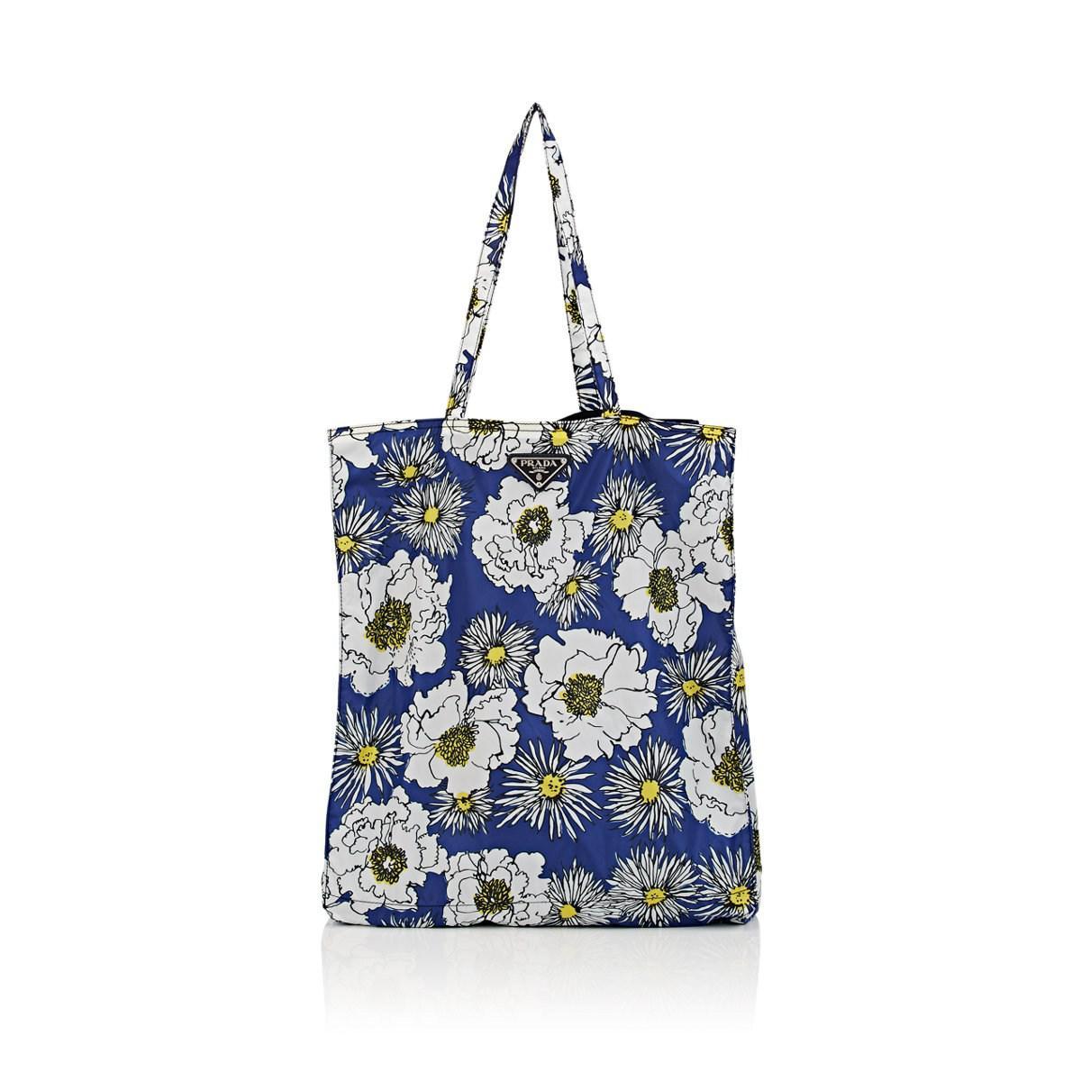 b374a328289f ... canada lyst prada lady shopping tote bag in blue 0db01 469b3