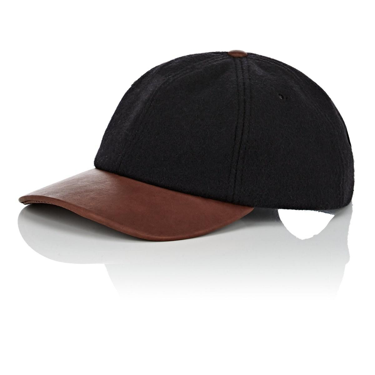 Lyst - Crown Cap Wool-blend   Leather Baseball Cap in Black for Men 5c2778cc691c