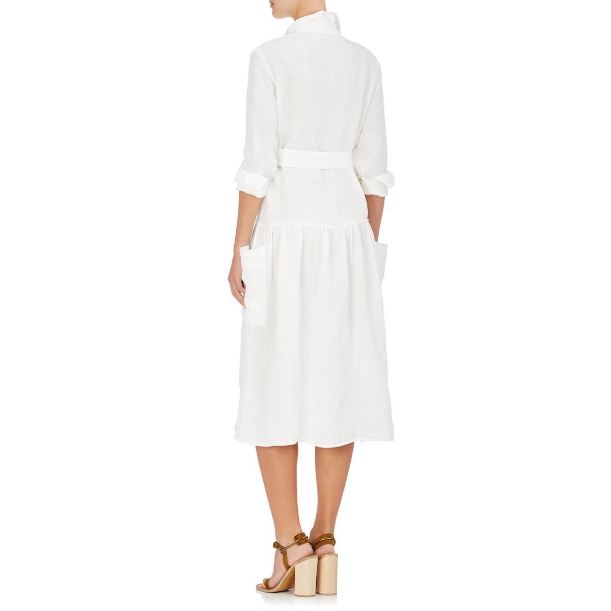 74a78836b76 Tomas Maier - White Linen Belted Shirtdress - Lyst. View fullscreen