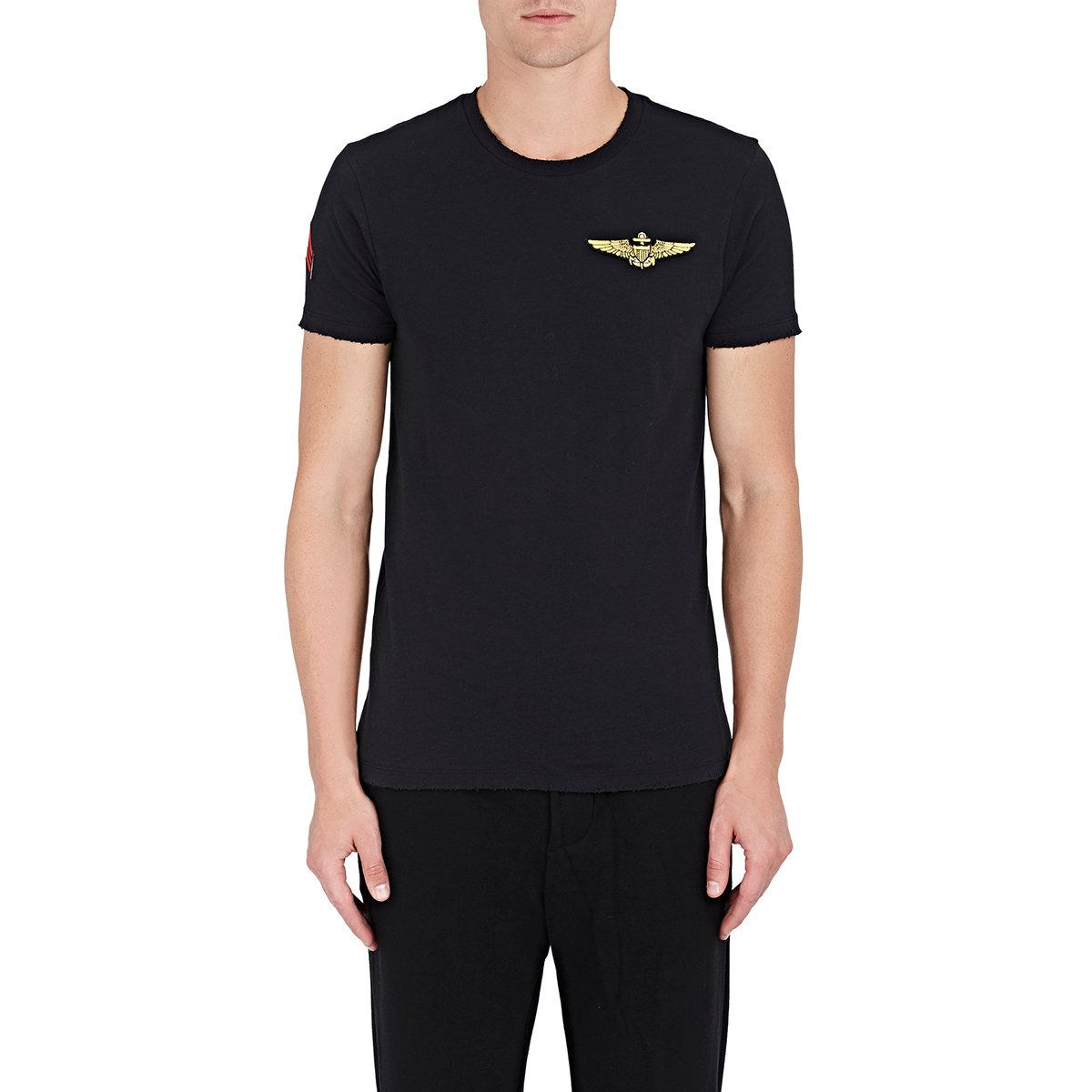 Lyst barneys new york military patch cotton jersey t in