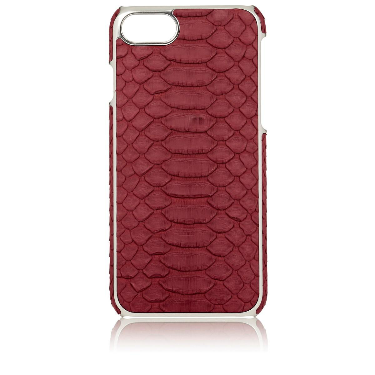 sports shoes 3064c 5a4af Barneys New York Python Iphone® 7/8 Case in Red for Men - Save 65 ...