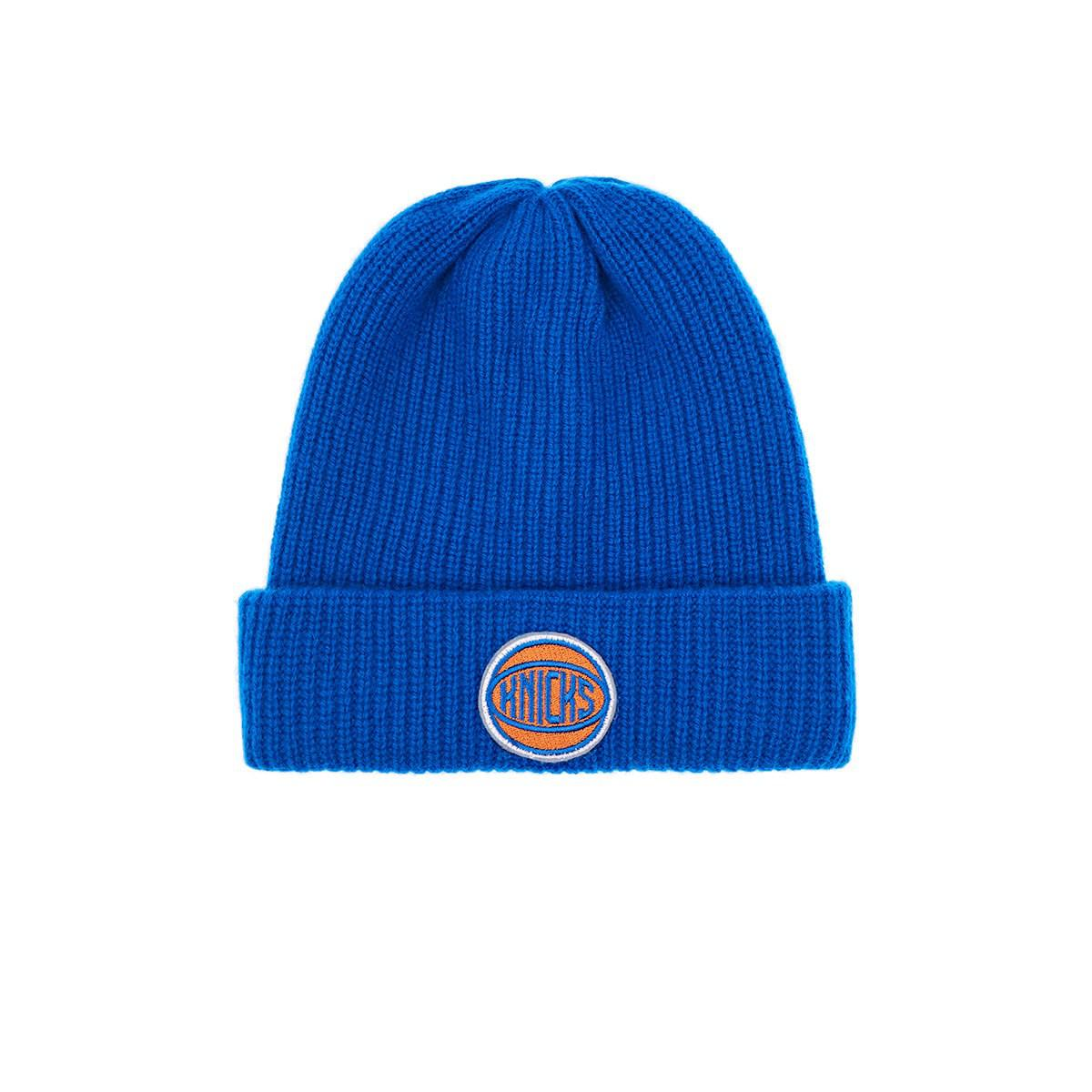 Mens New York Knicks Logo Cashmere Watchmans Cap The Elder Statesman X NBA CXIOWAVv