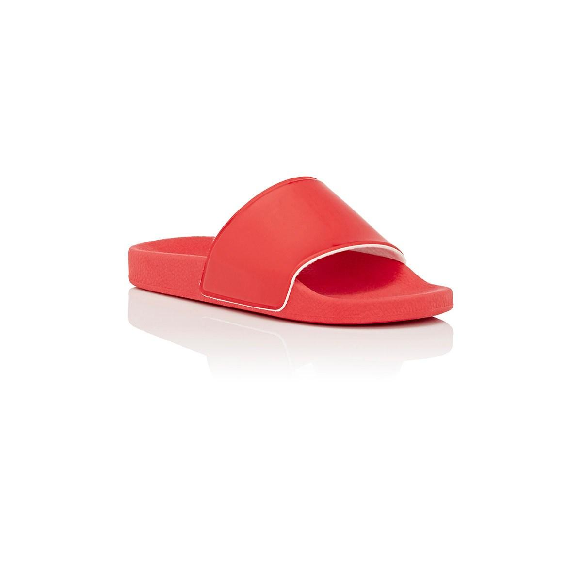 fecd9d1d0 Barneys New York - Red Rubber Slide Sandals for Men - Lyst. View fullscreen