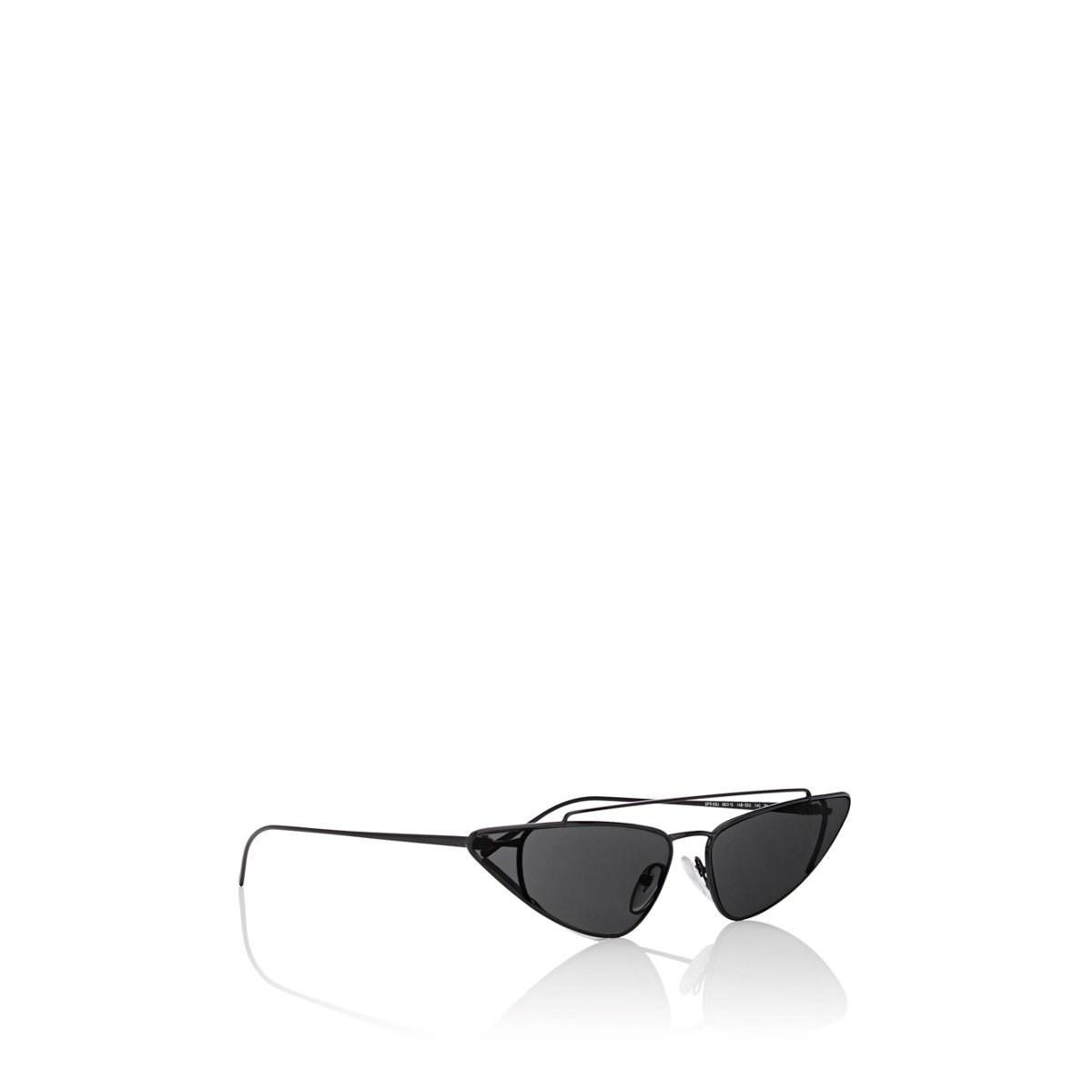 2ab627de5bbd Prada - Black Triangular Cat-eye Sunglasses - Lyst. View fullscreen