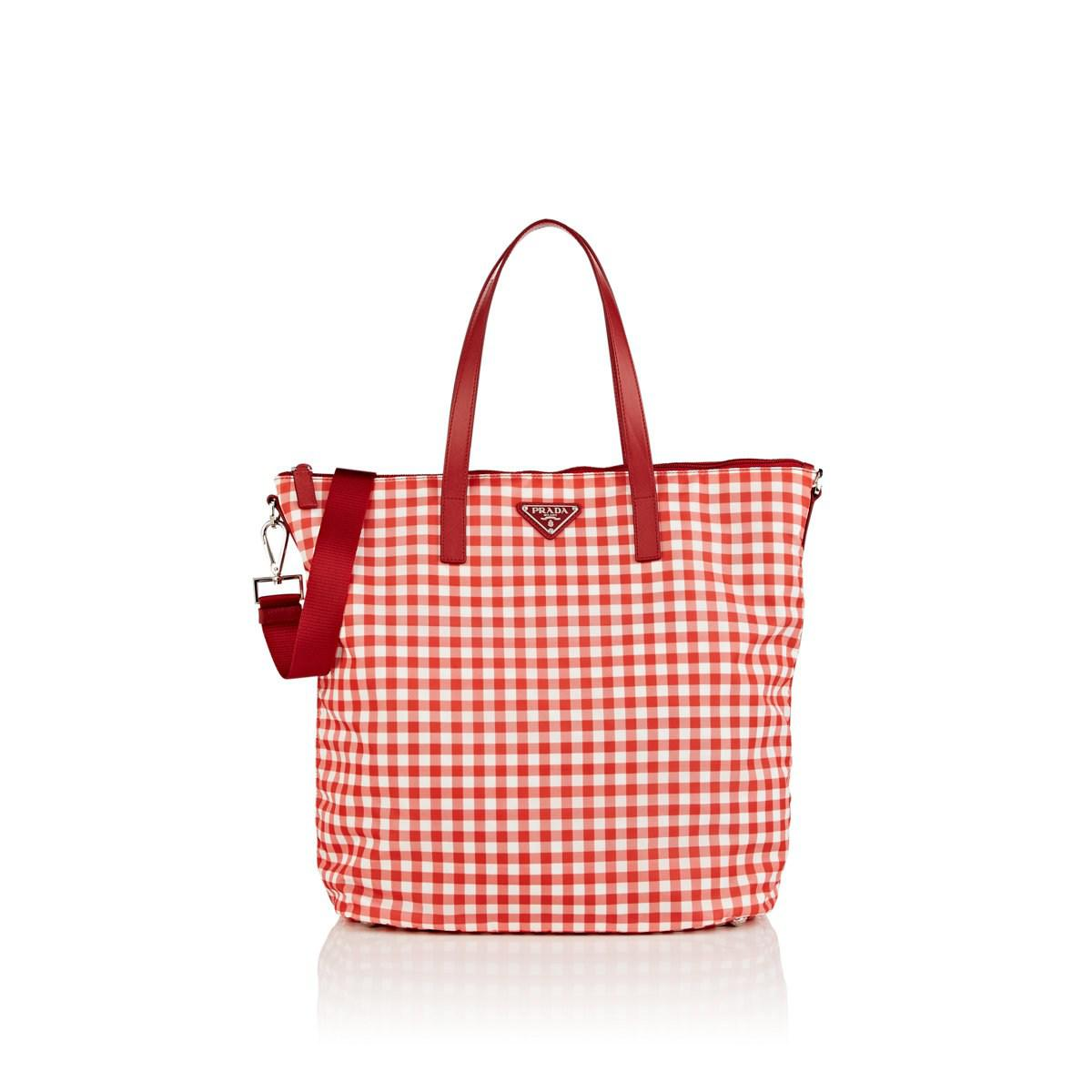 f8a297ca6d30 ... sweden lyst prada donna lady shopping tote bag in red 27636 ac0bc
