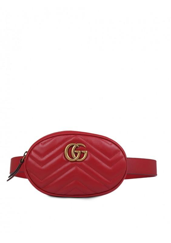 701562cb29f5 Lyst - Gucci Gg Marmont Belt Bag in Red